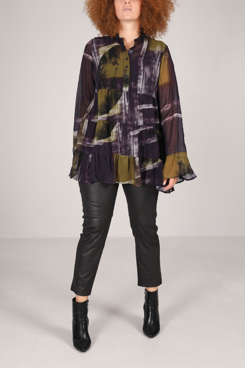 Crumpled voile shirt