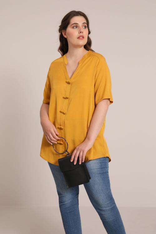 Plain viscose trapeze shirt