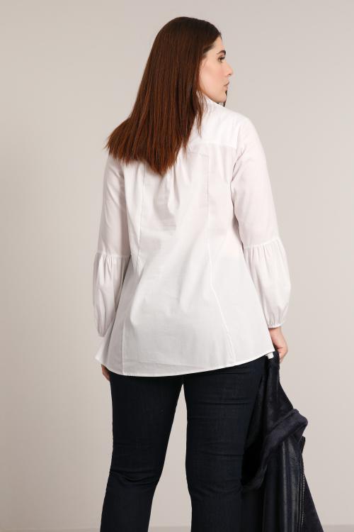 Screen-printed poplin shirt