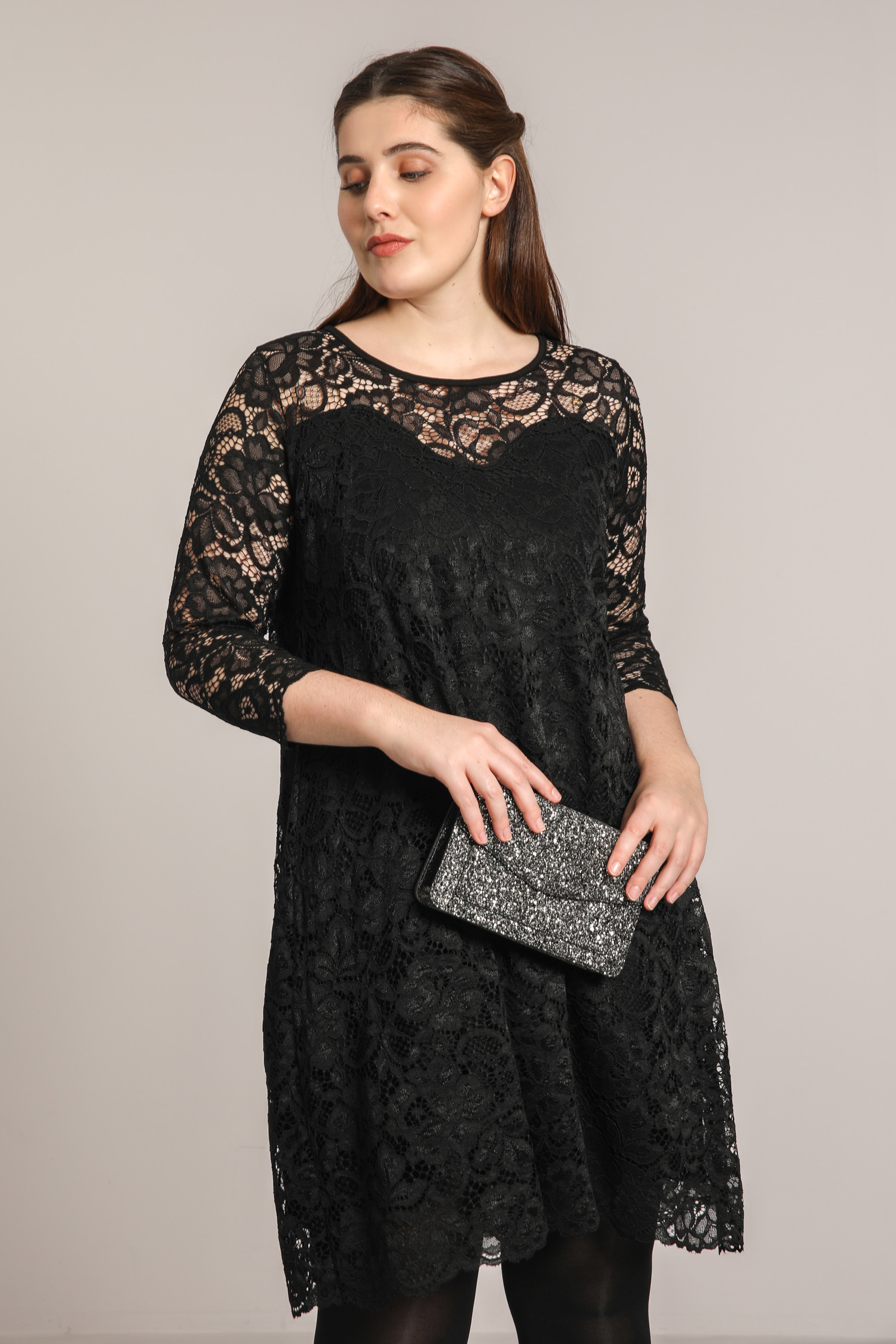 Lined lace dress