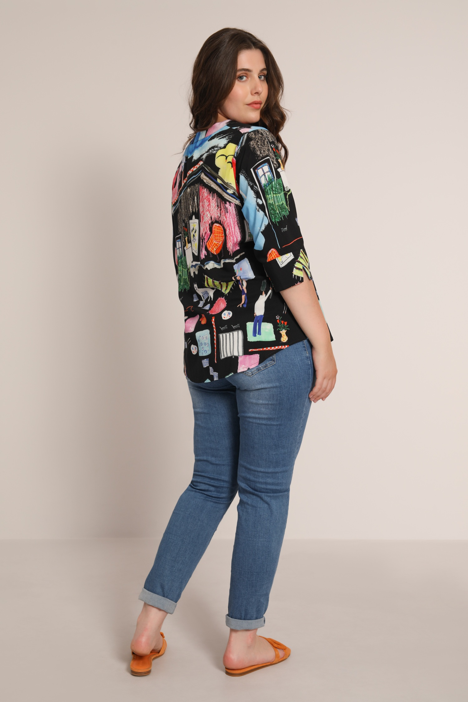 Graphic print blouse