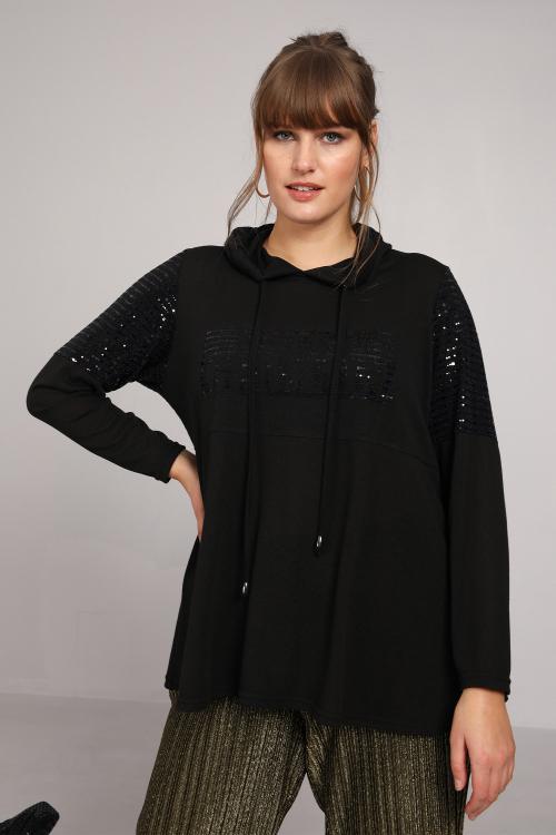 Saint Germain viscose and sequin t-shirt