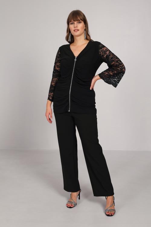 Knitted and lace jacket