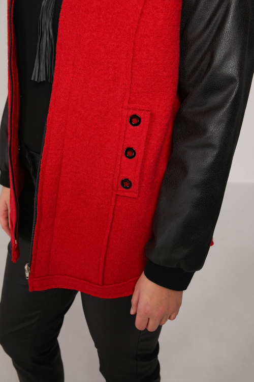 Boiled wool teddy jacket