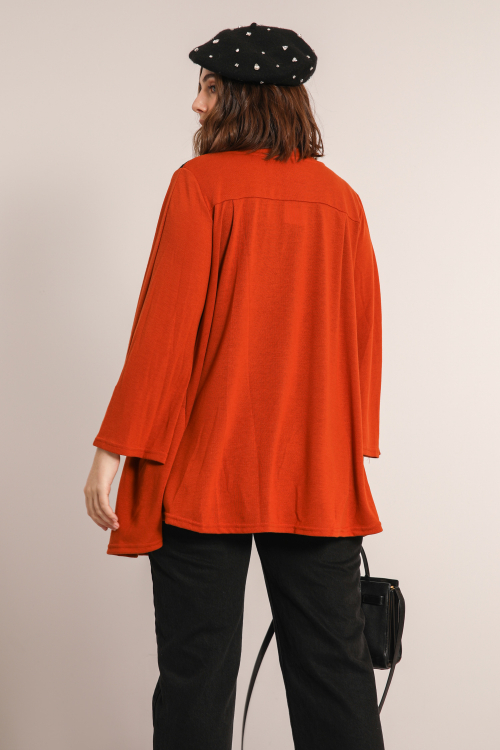 Jacket with lace insert