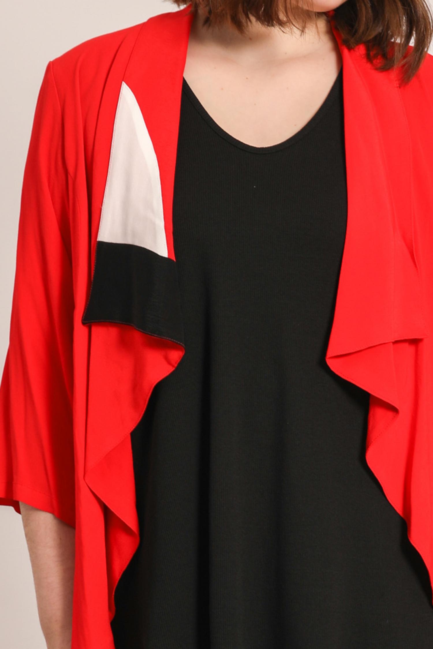Waterfall collar jacket