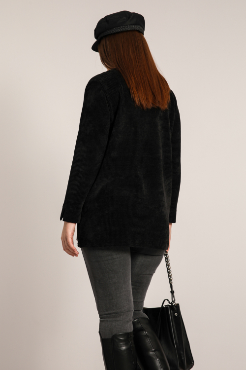 Chenille knit sweater with fancy braid (shipping November 30 / December 5)