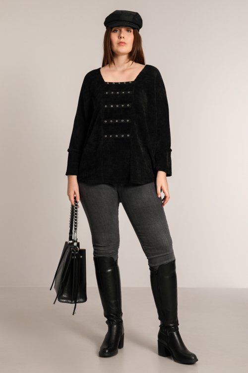 Plain chenille knit sweater (shipping November 30 / December 5)