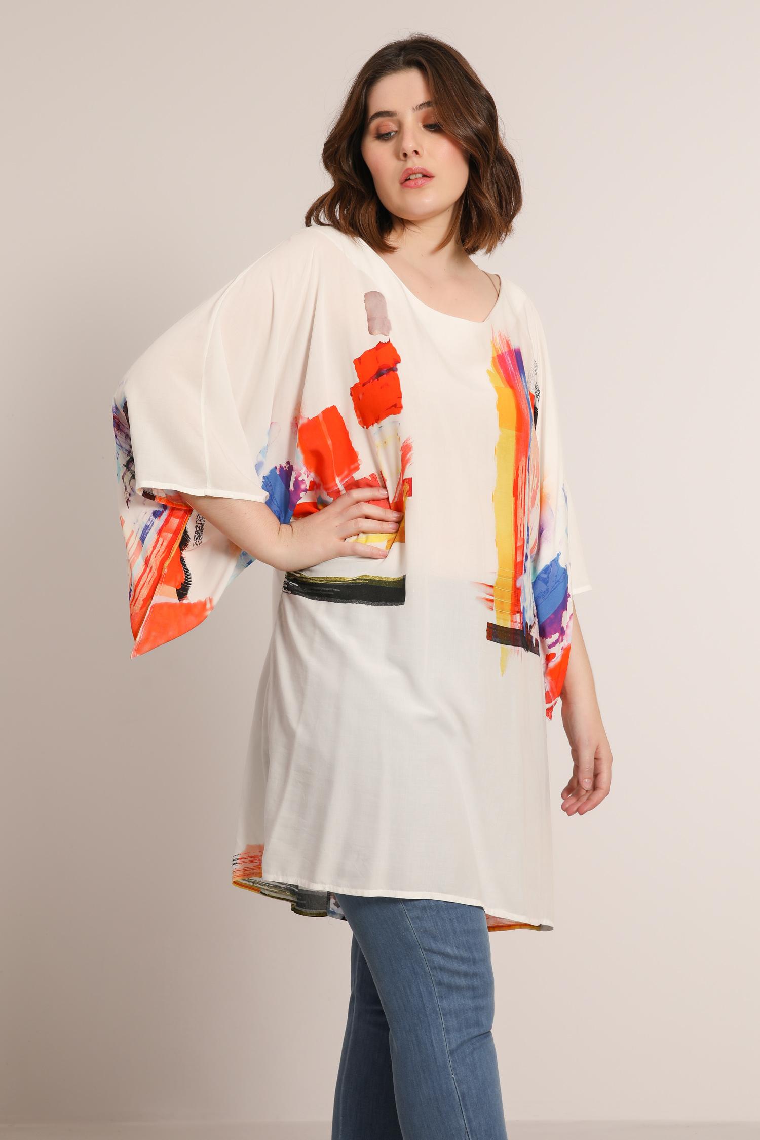 Light viscose dress tunic