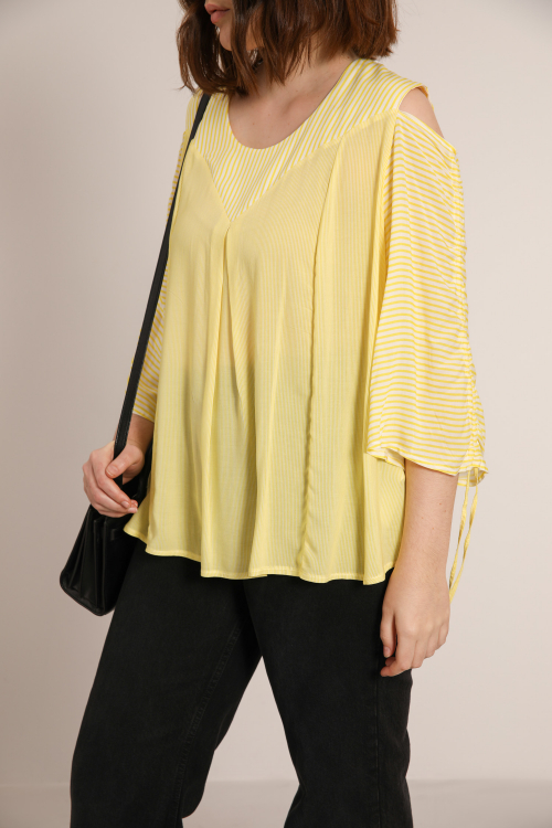 Striped viscose top