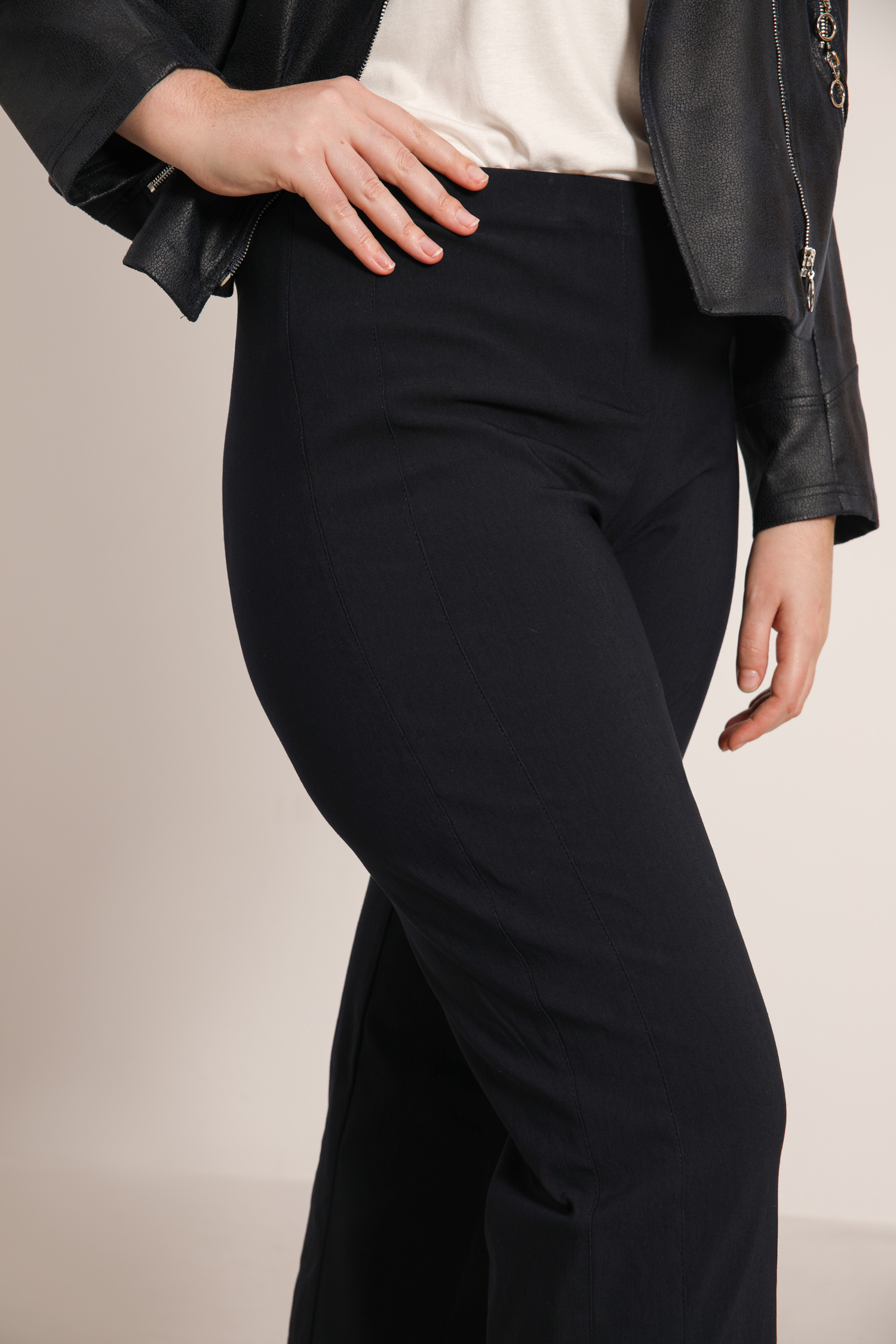 trousers with decorative cutout