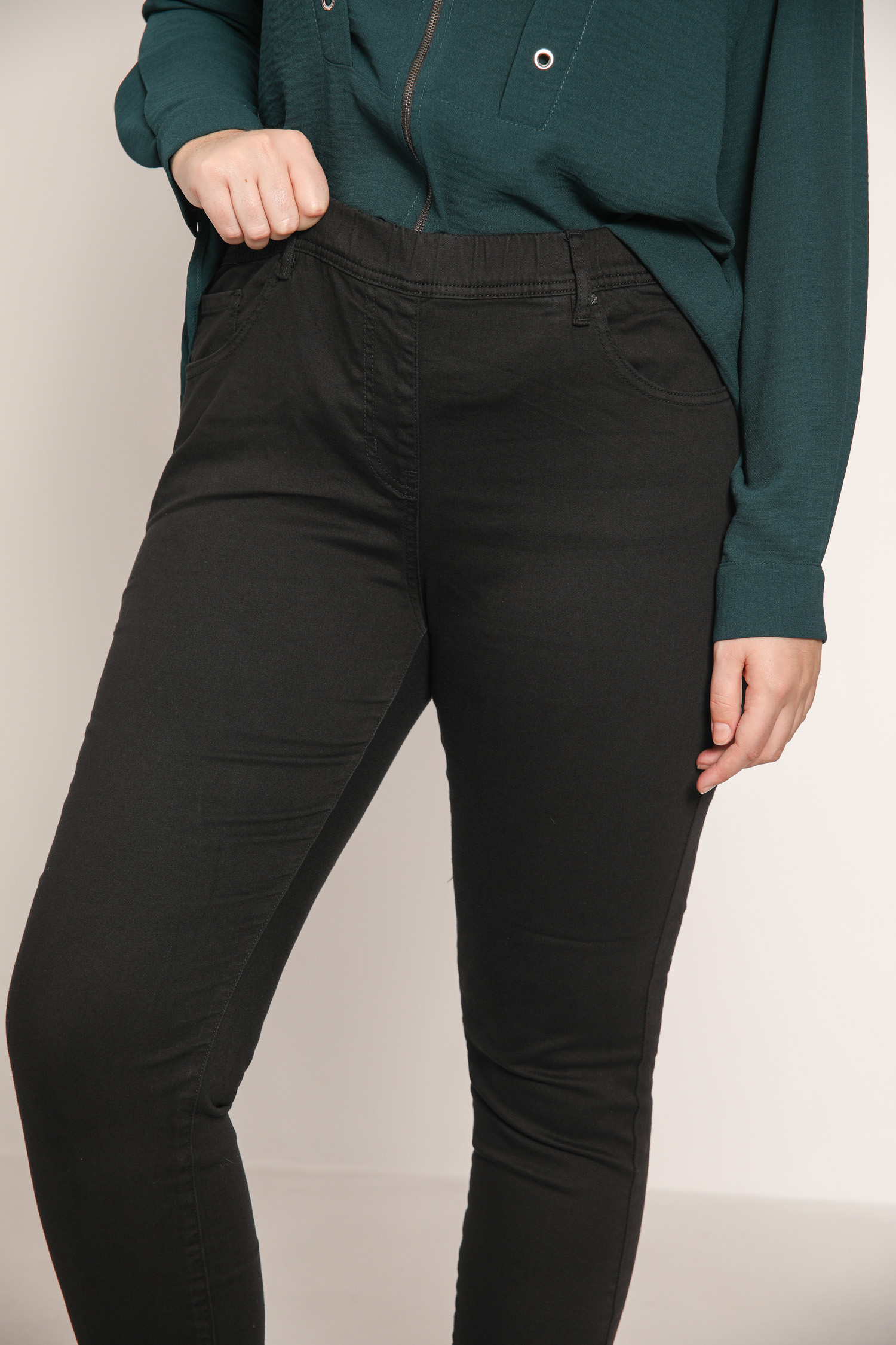 Elastic waist slim jeggings