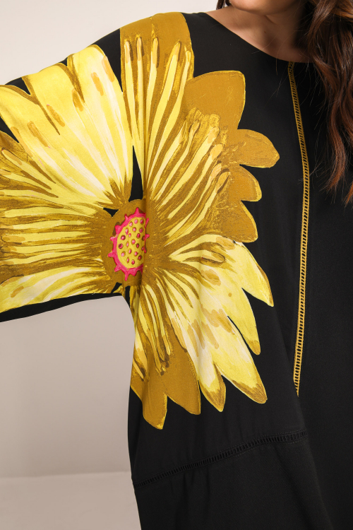 Tunic with placed design