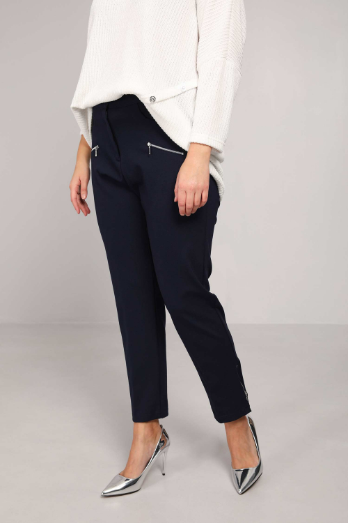 Zipped stretch pant