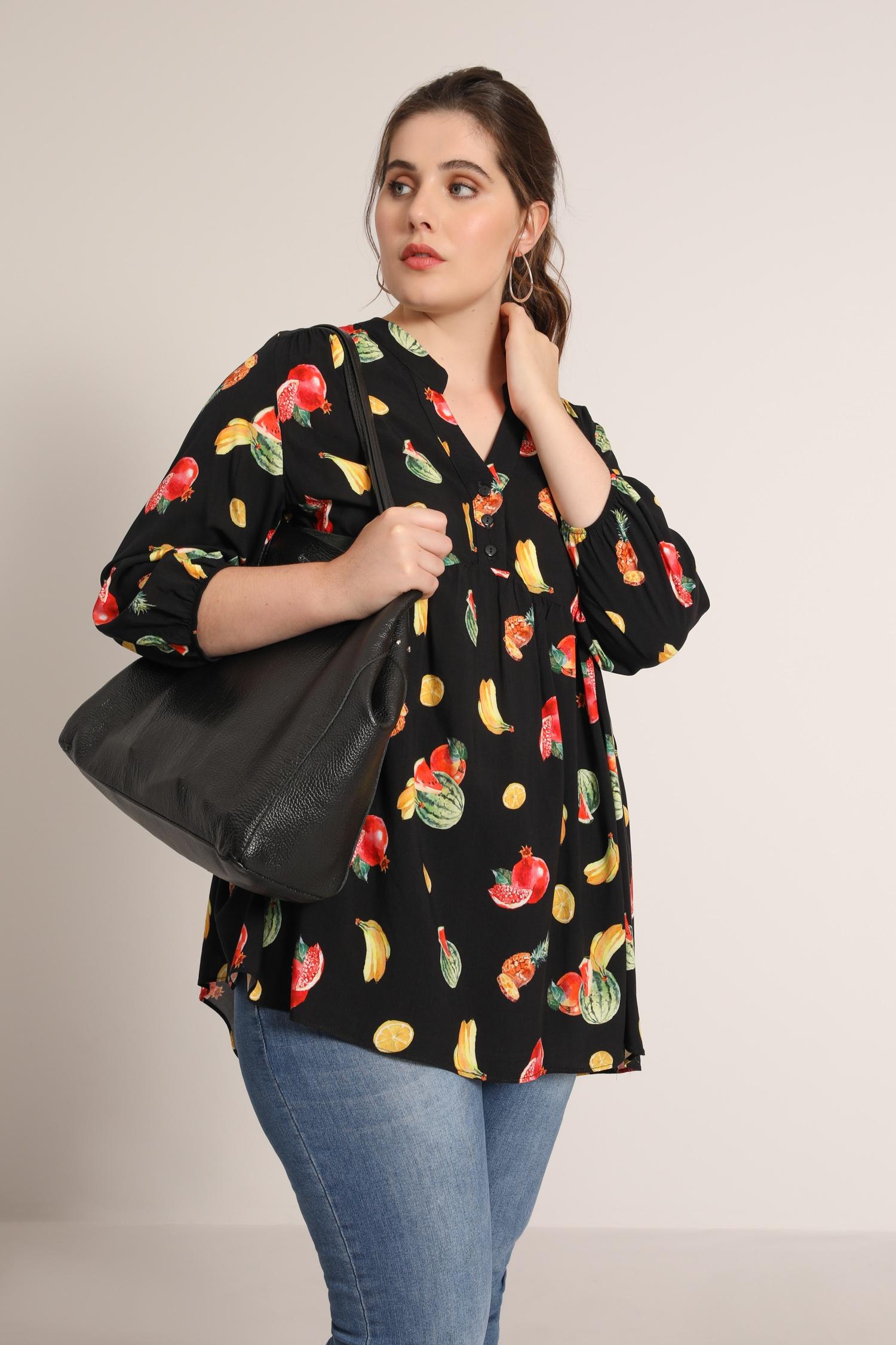 Watermelon print blouse