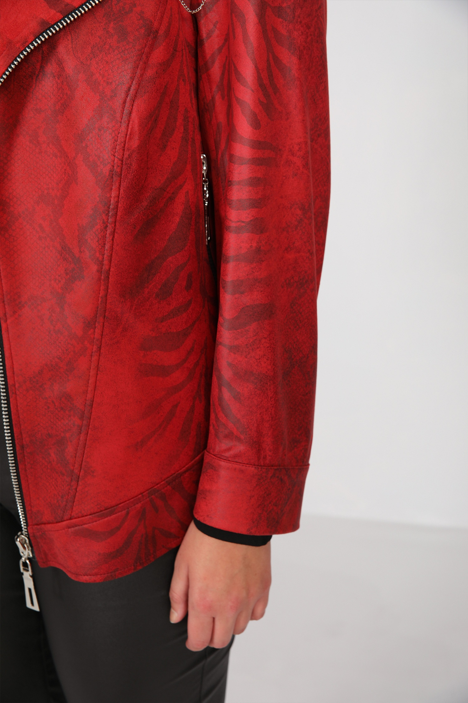 Perfecto jacket in printed faux leather