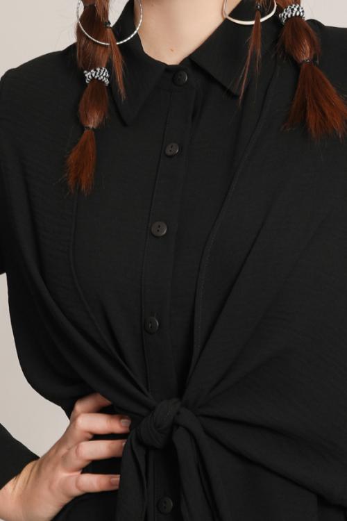Tied crepe shirt
