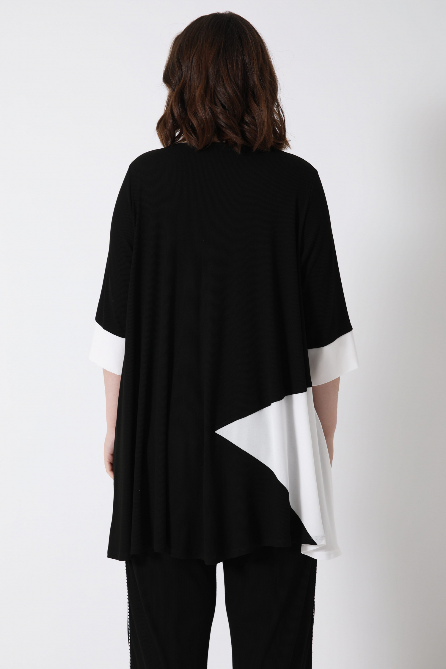 Two-tone trapeze tunic (shipping 5/10 FEBRUARY 2021)