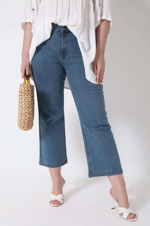 Light stone bootcut jeans