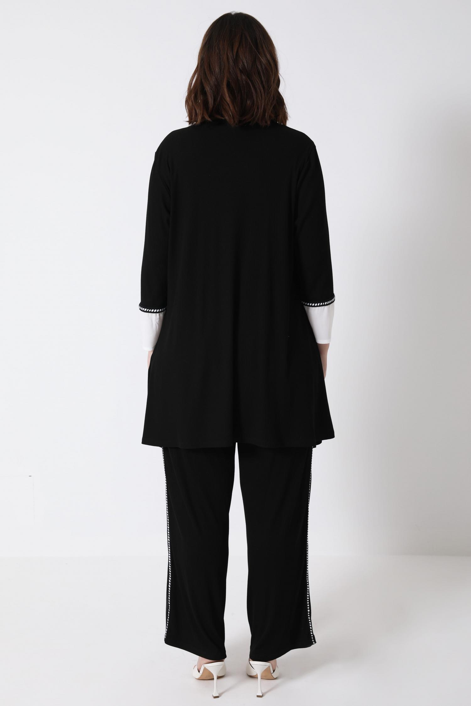 Rib waistcoat with braid