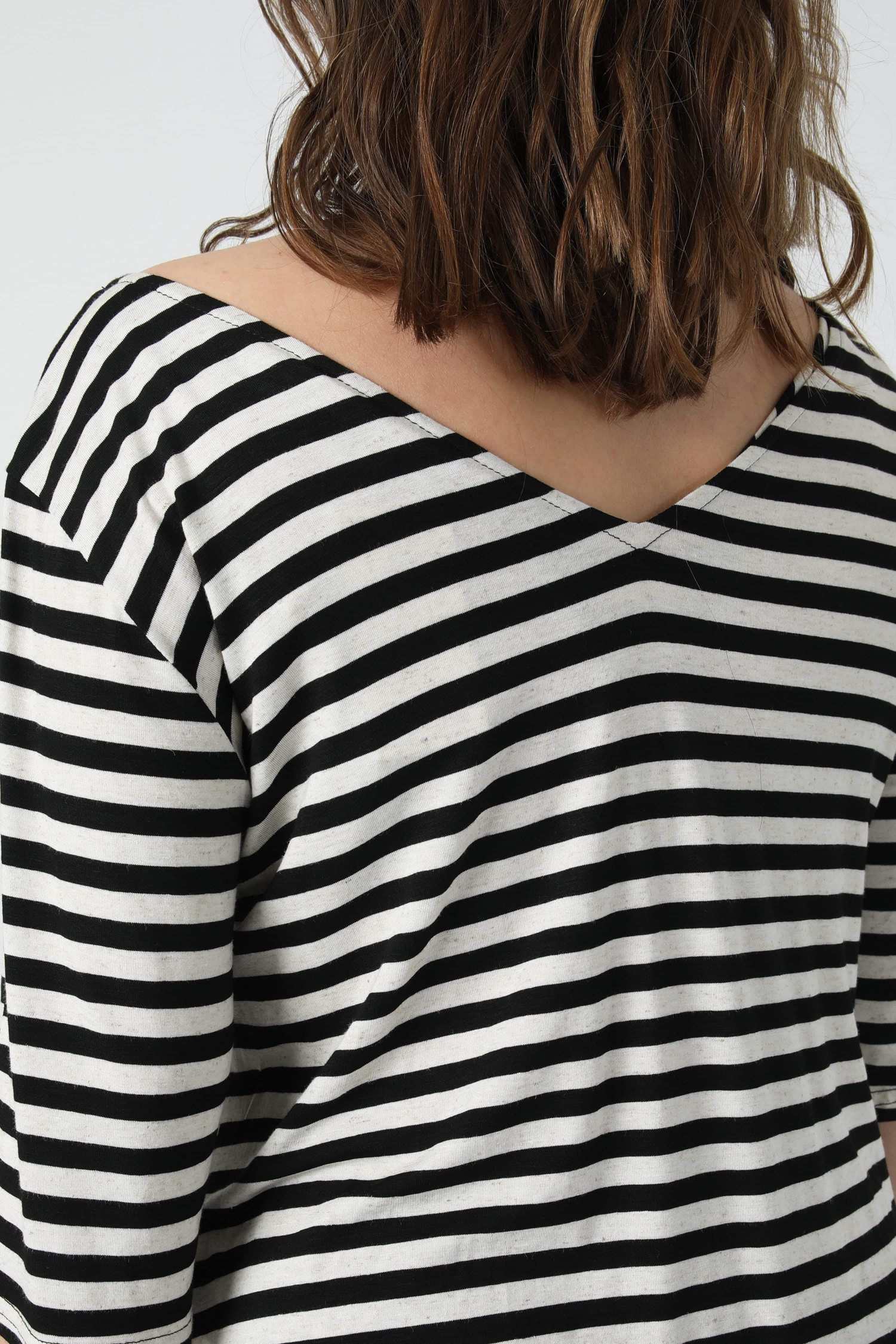 Striped t-shirt with braid