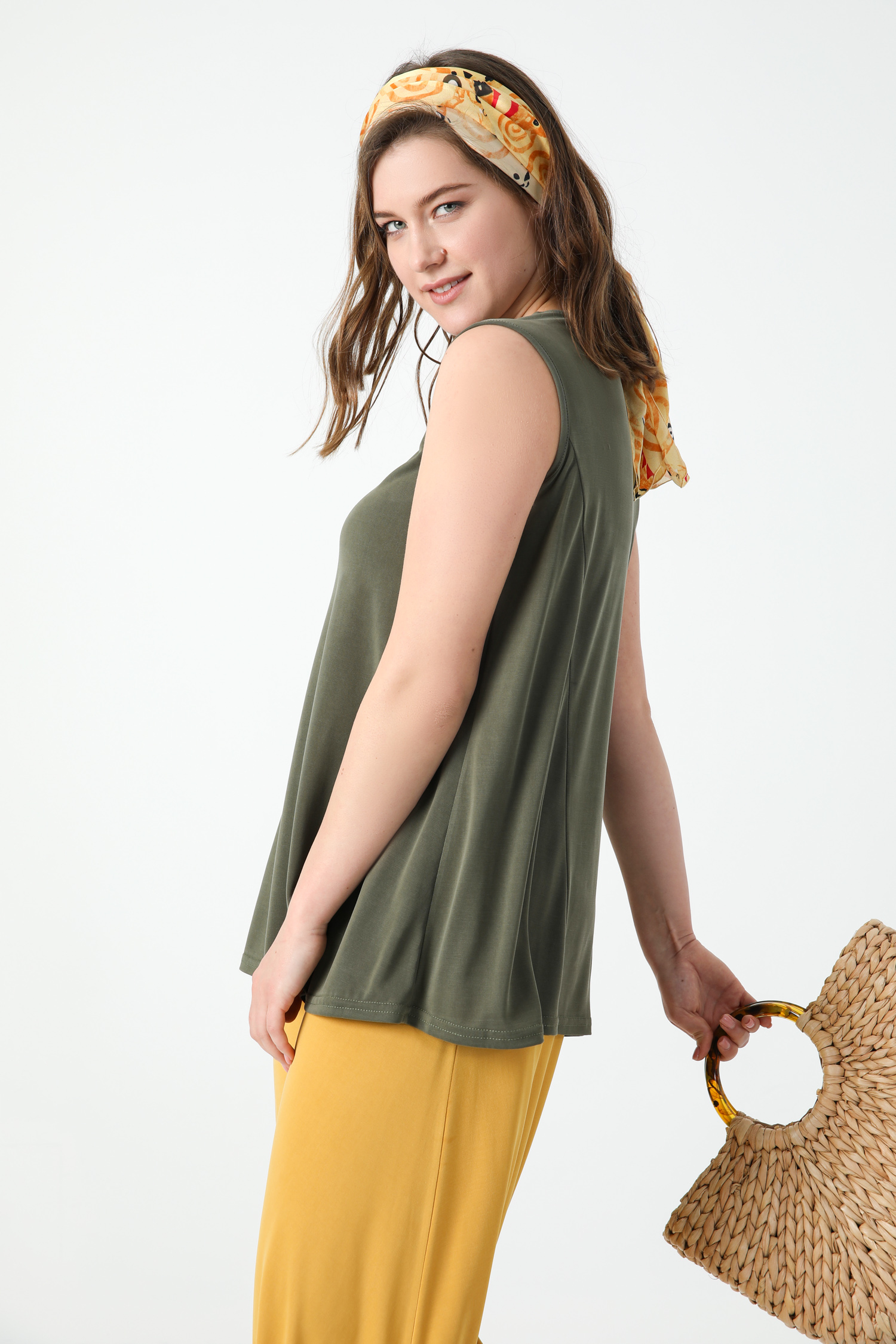 Modal tank top with lace trim