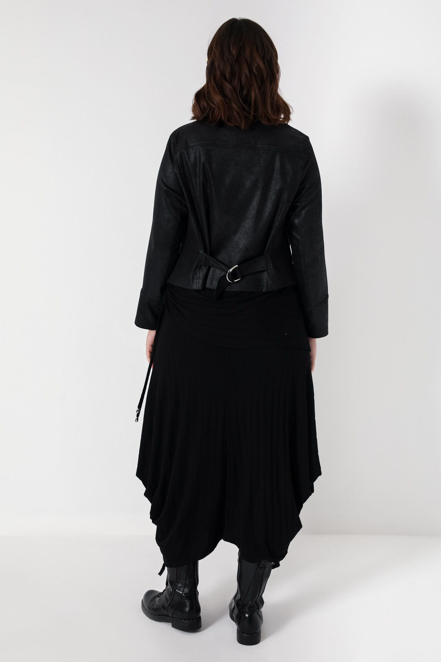 Ribbed knit skirt with basque (shipping 15/20 February)