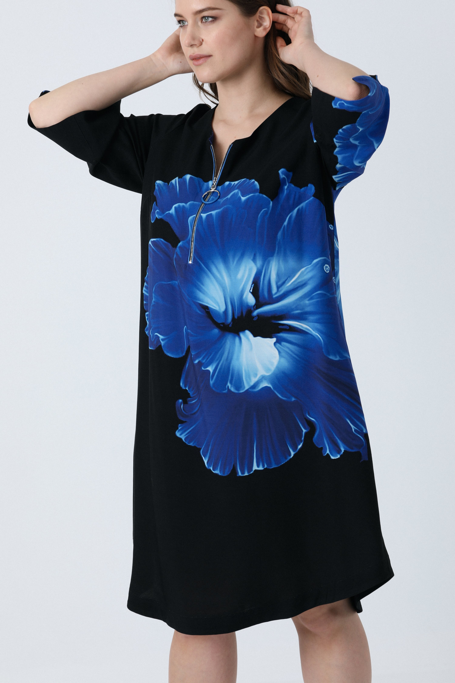 Zipped flower print dress (expedition 5/10 March)