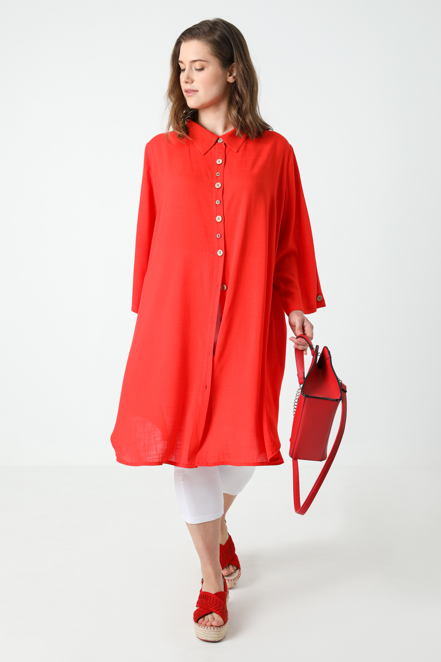 Straight shirt dress