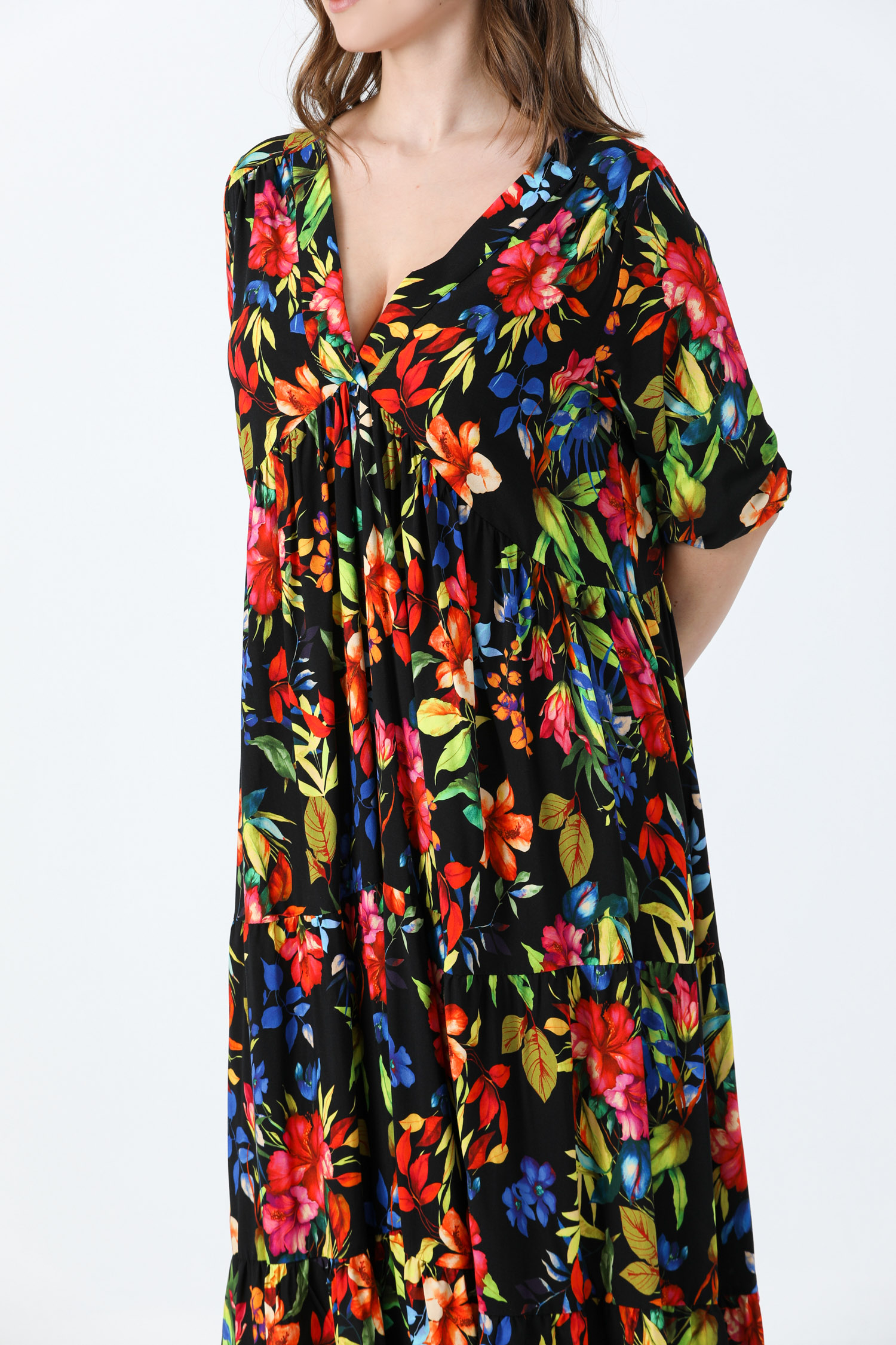 Printed viscose dress (Delivery 15/20 octobre)
