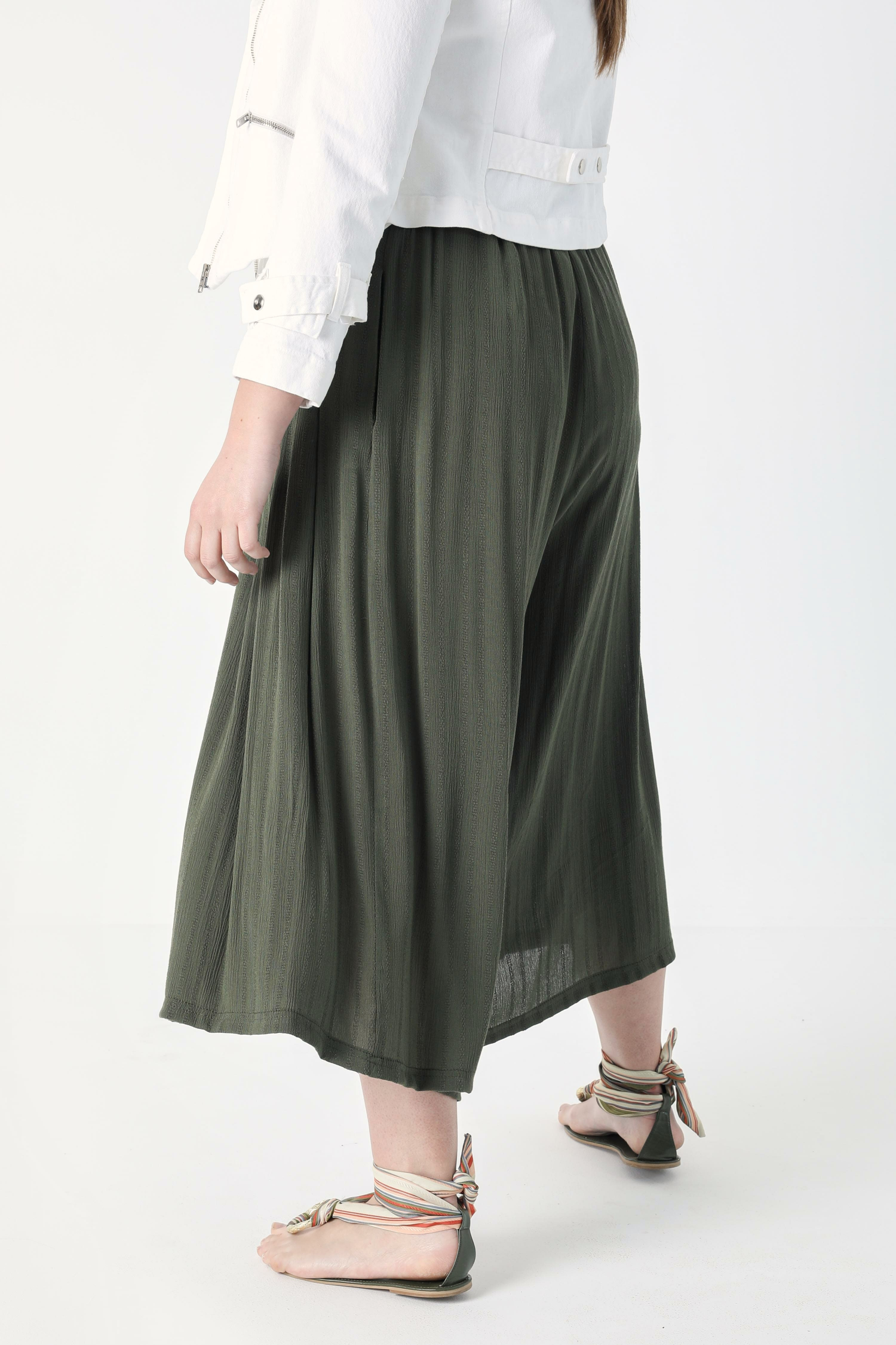 Panty skirt in striped effect viscose (shipping 5/10 April)