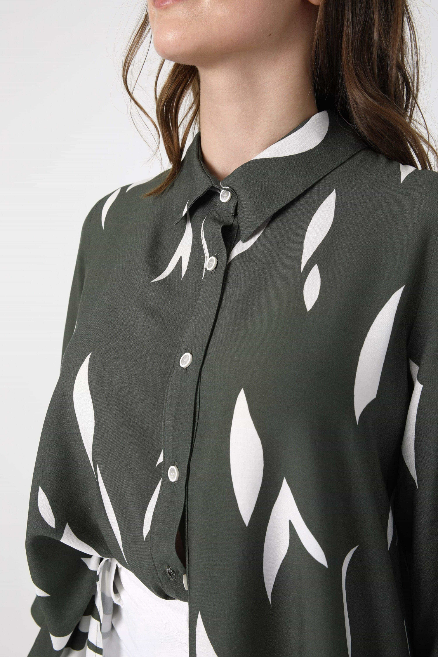 Fibranne shirt design with printed base