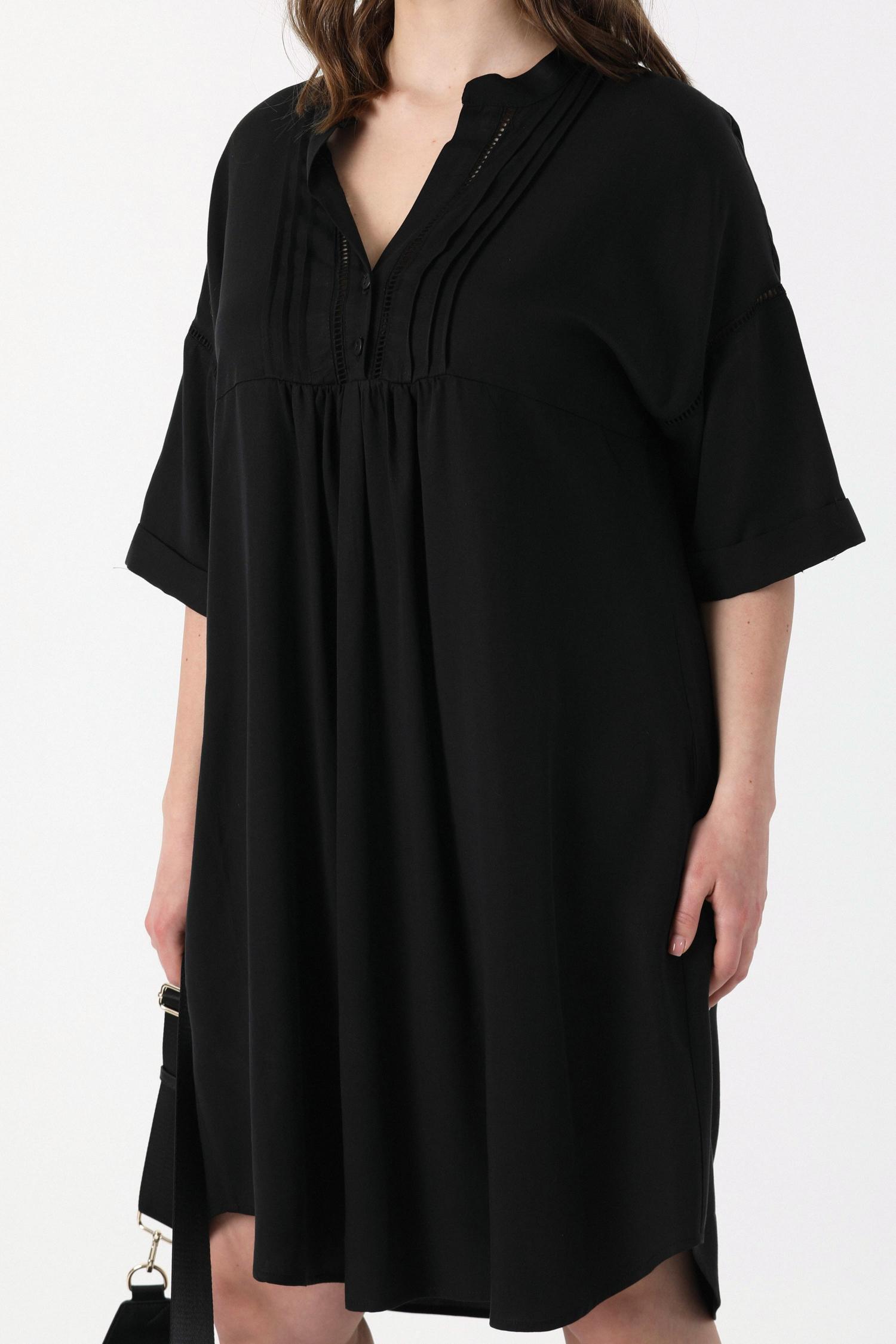 Tencel dress with braid