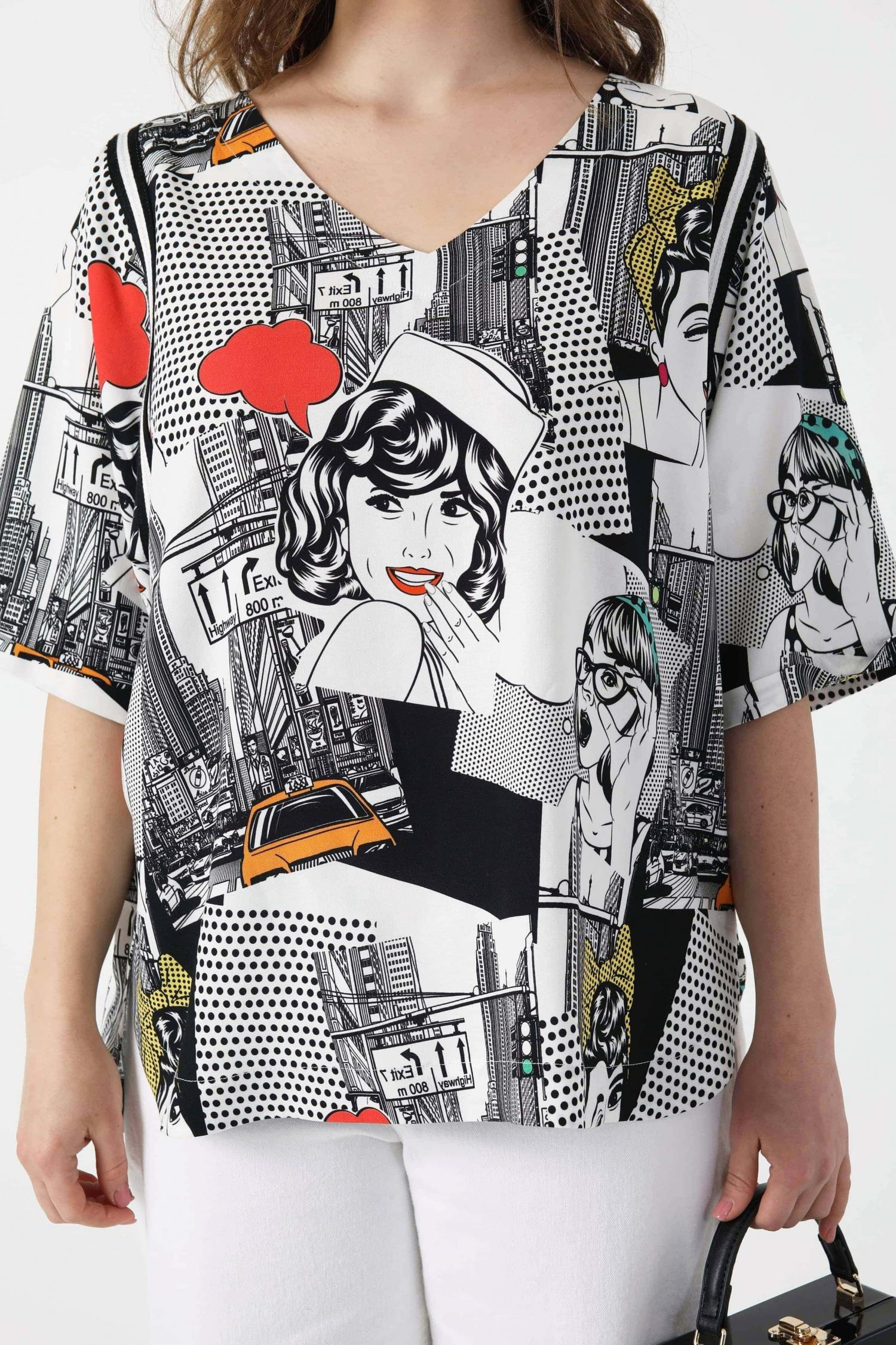 Pop Art print T-shirt