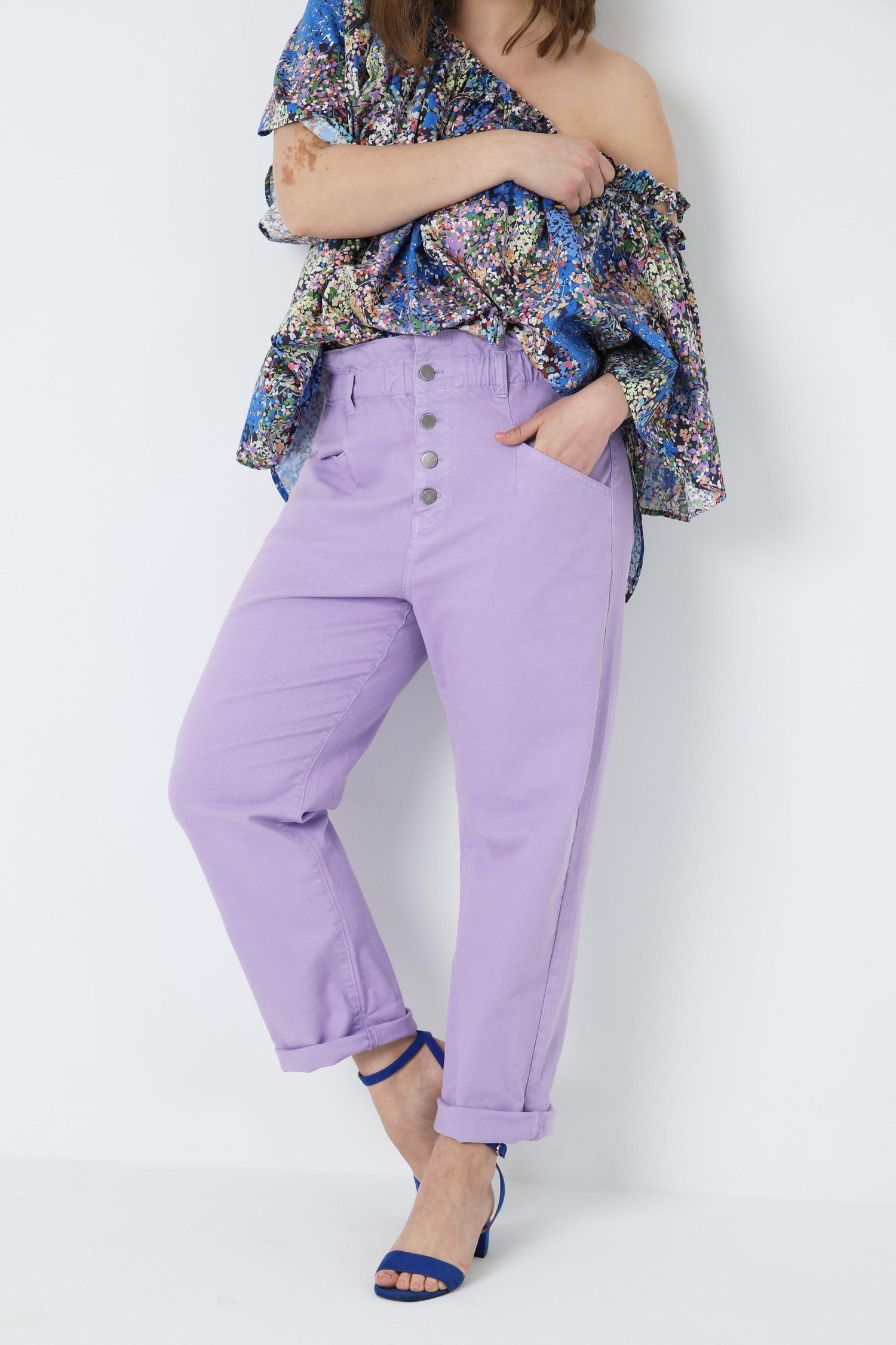 Colored organic cotton pants