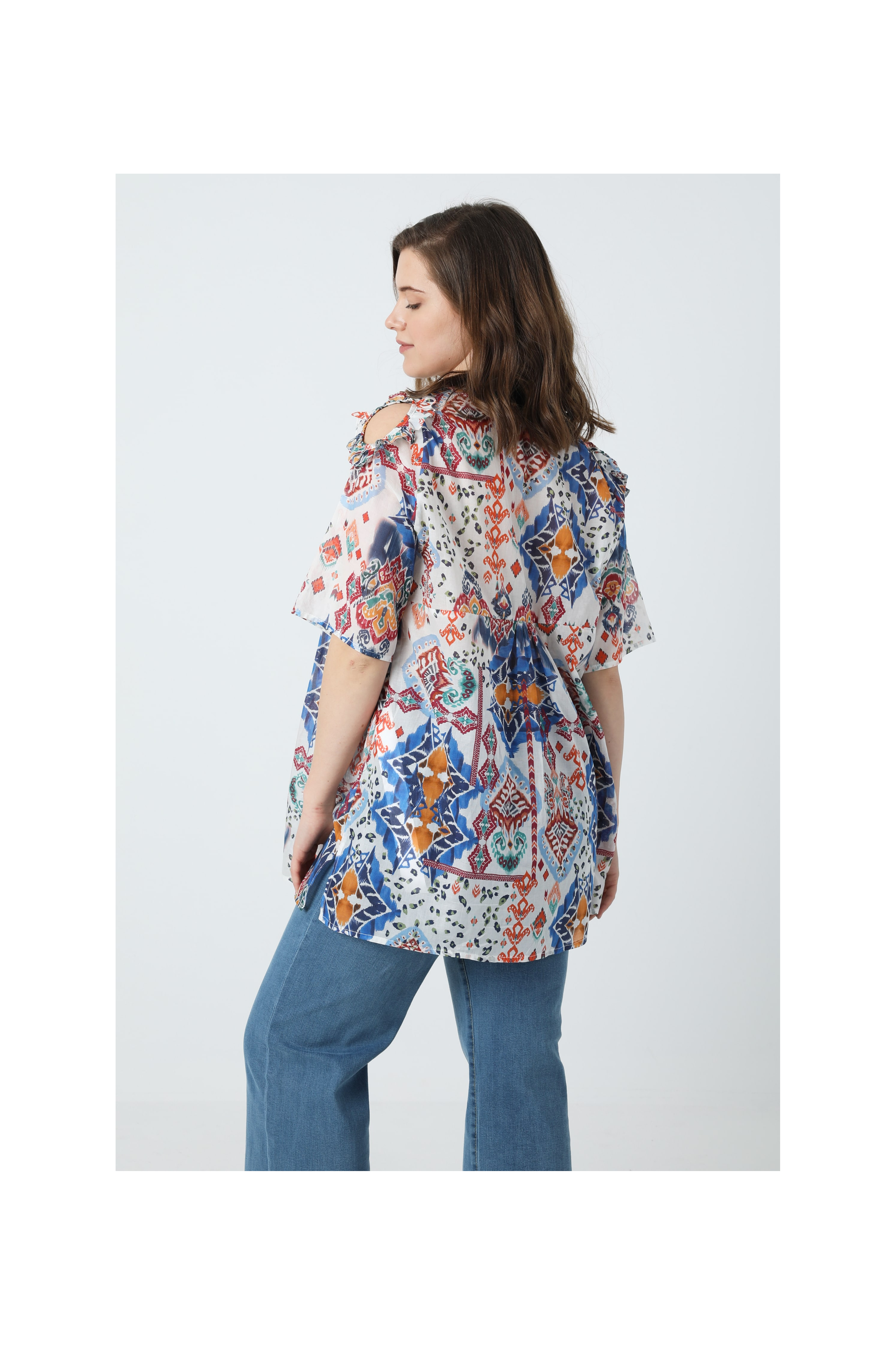 Printed cotton veil shirt (Shipping 25/31 March)