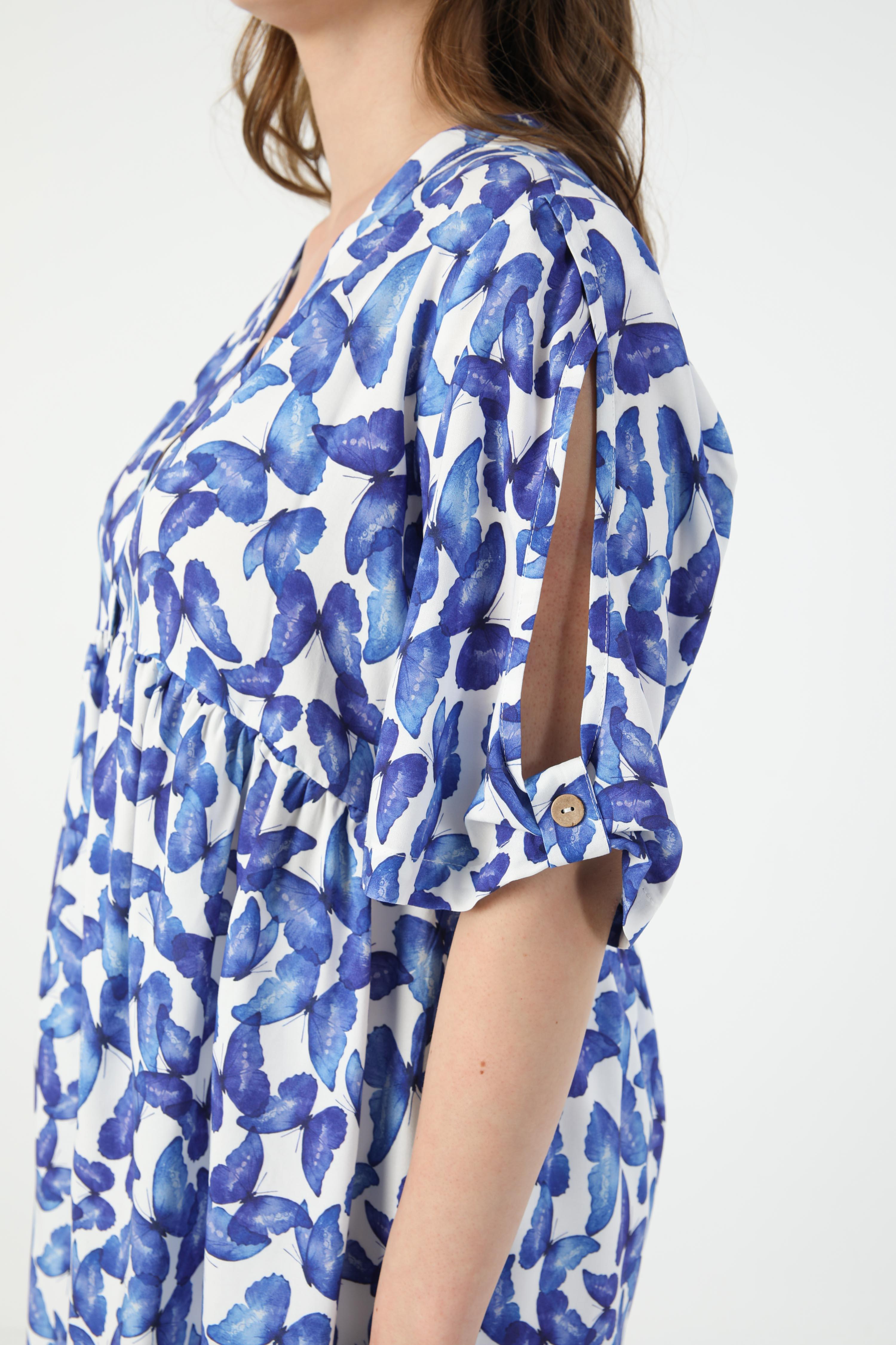 Printed viscose shirt (Shipping April 10/15)