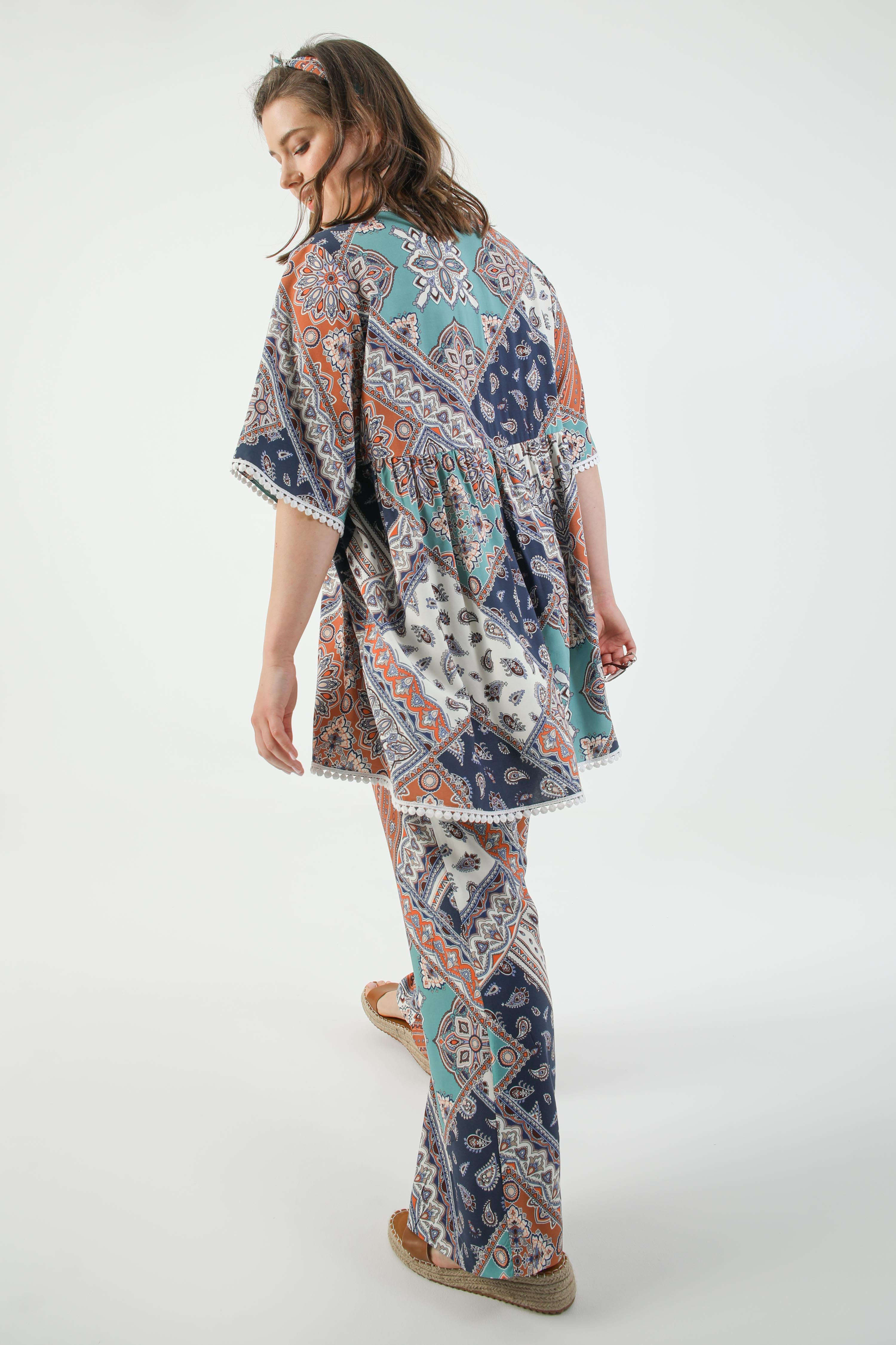 bohemian style printed tunic (shipping 15/20 May)