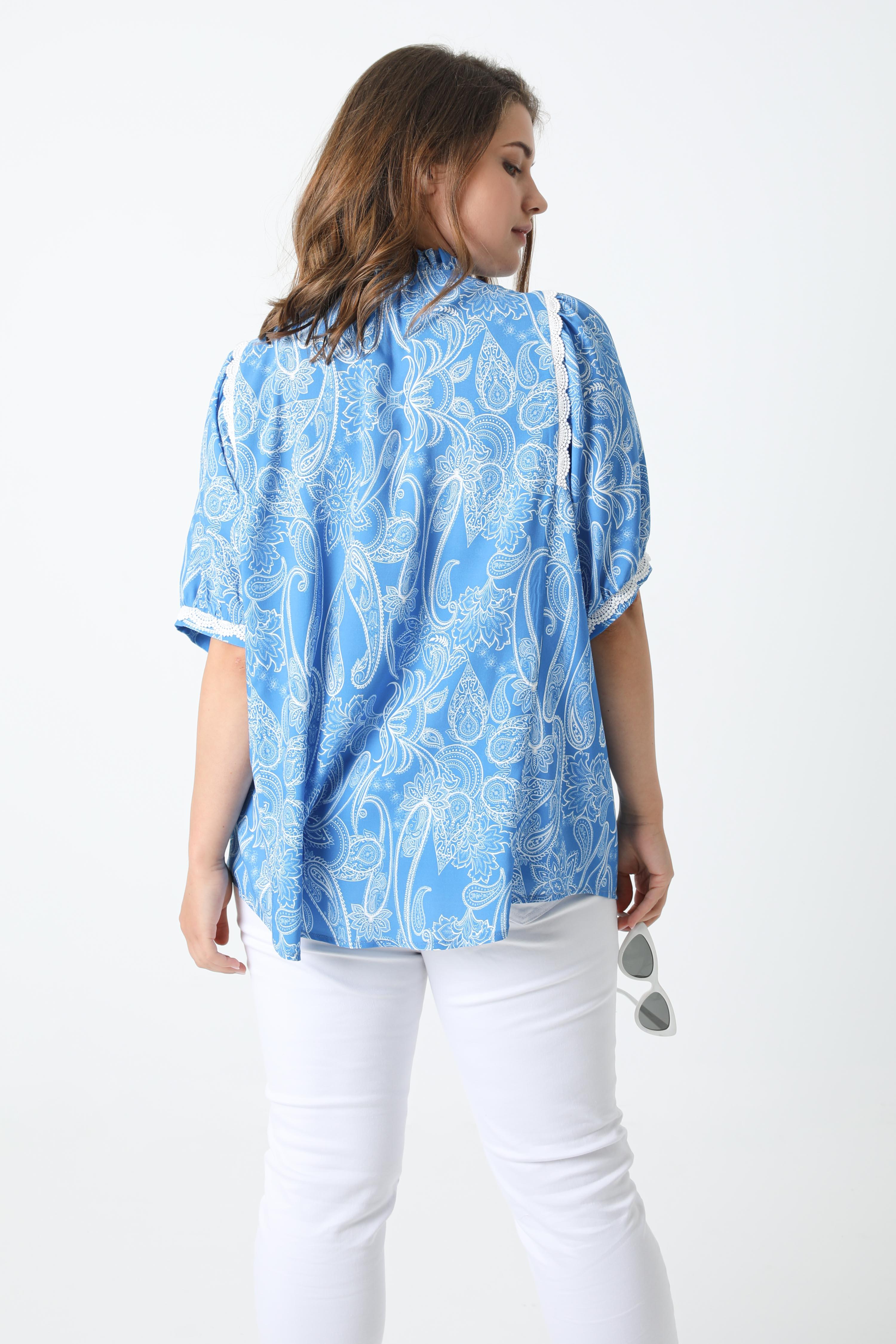 Printed shirt with braid