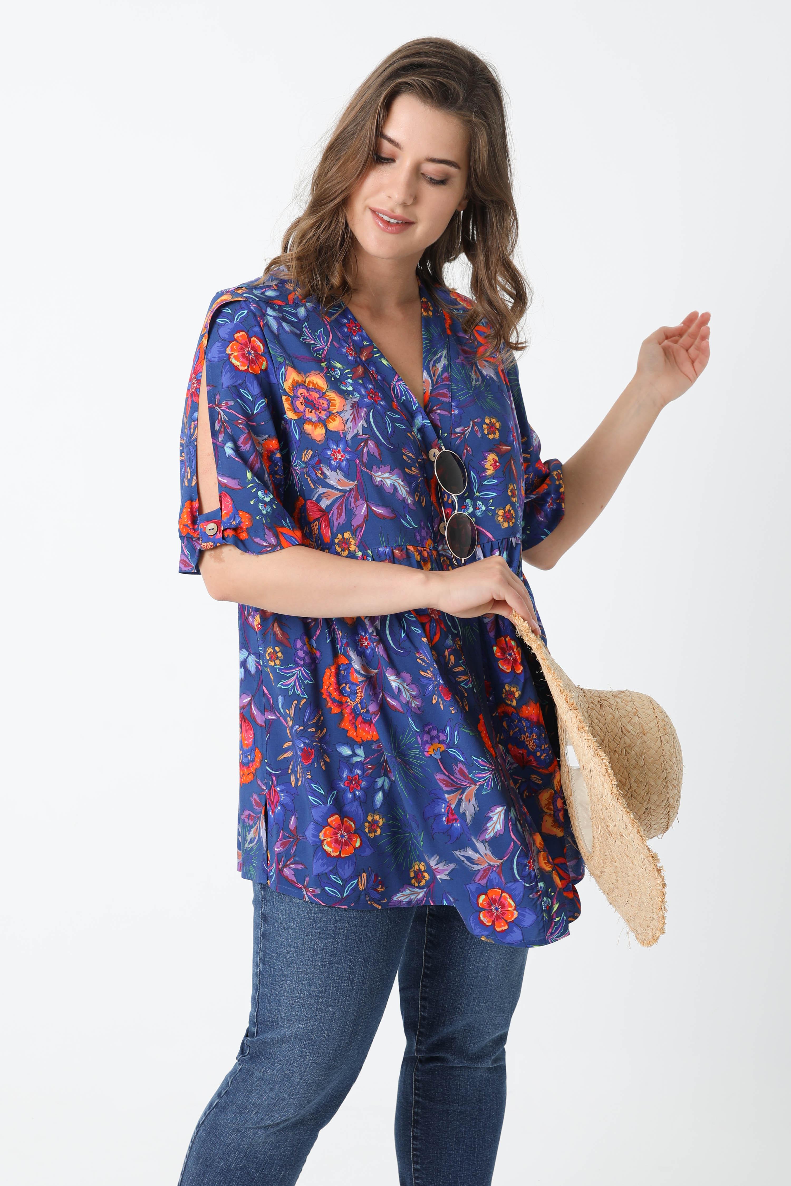 Printed shirt in oeko-tex fabrics