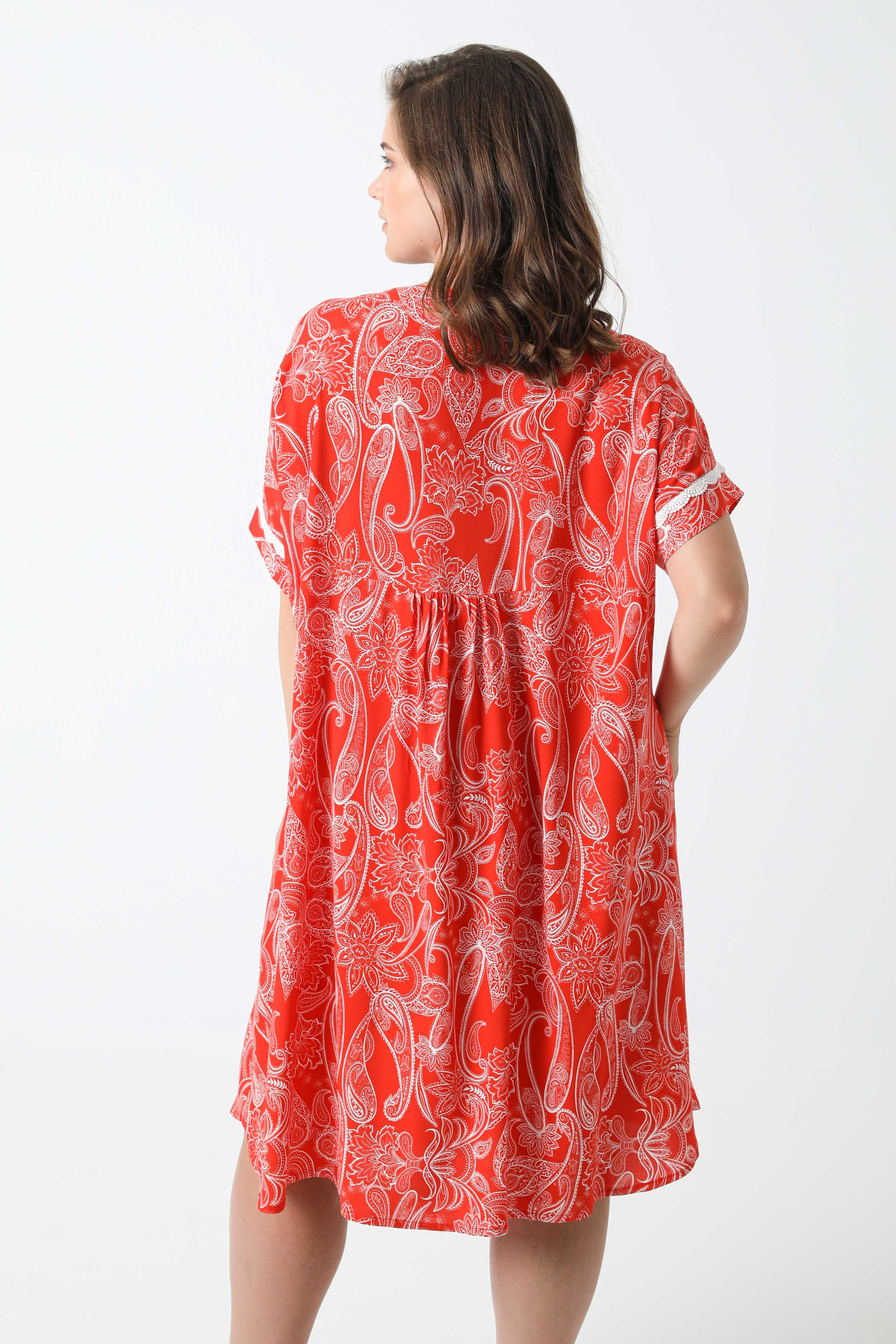 Mid-length dress printed with oeko-tex fabrics (Shipping 10: 15 June)