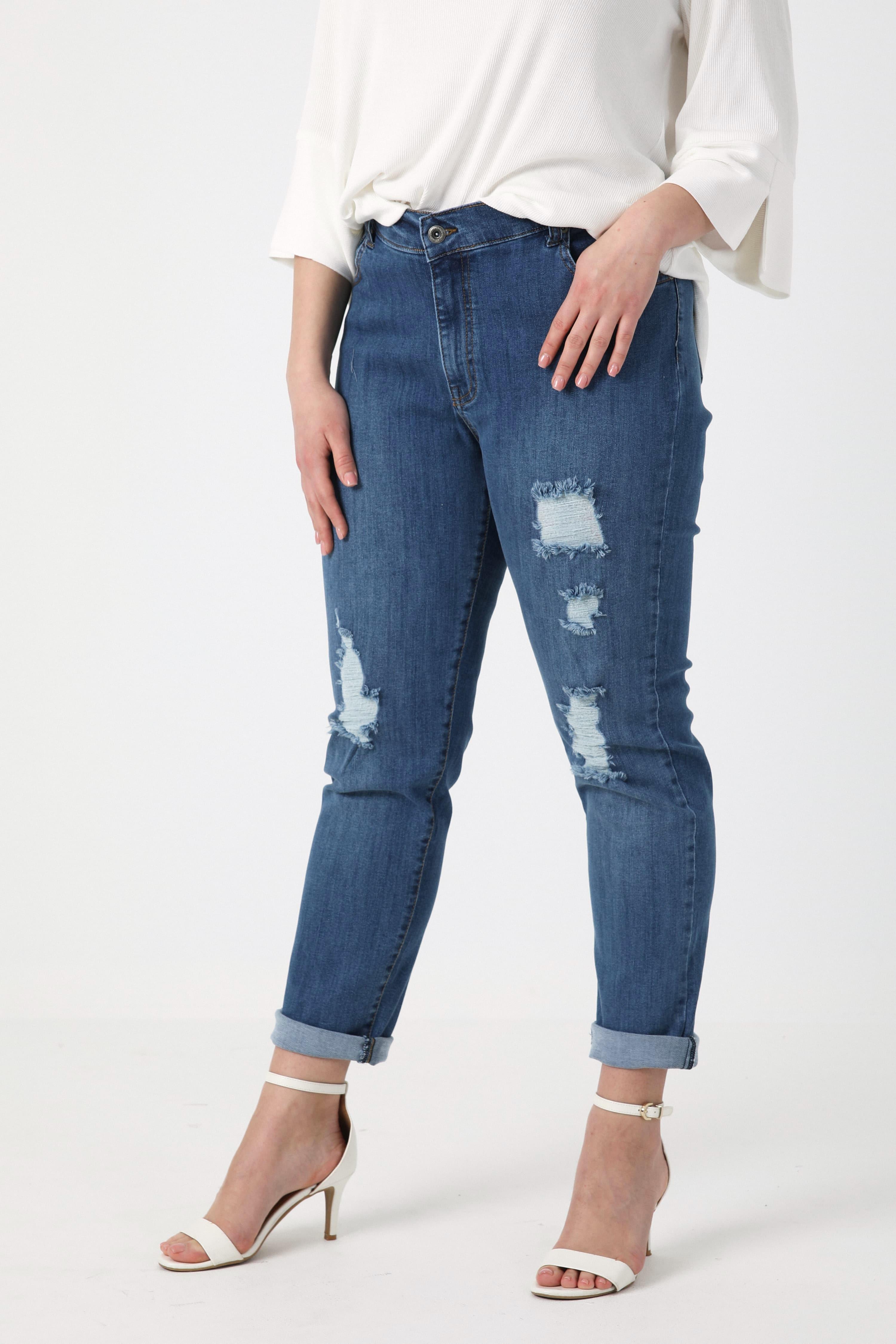 Raw jeans Organic cotton scratch effect