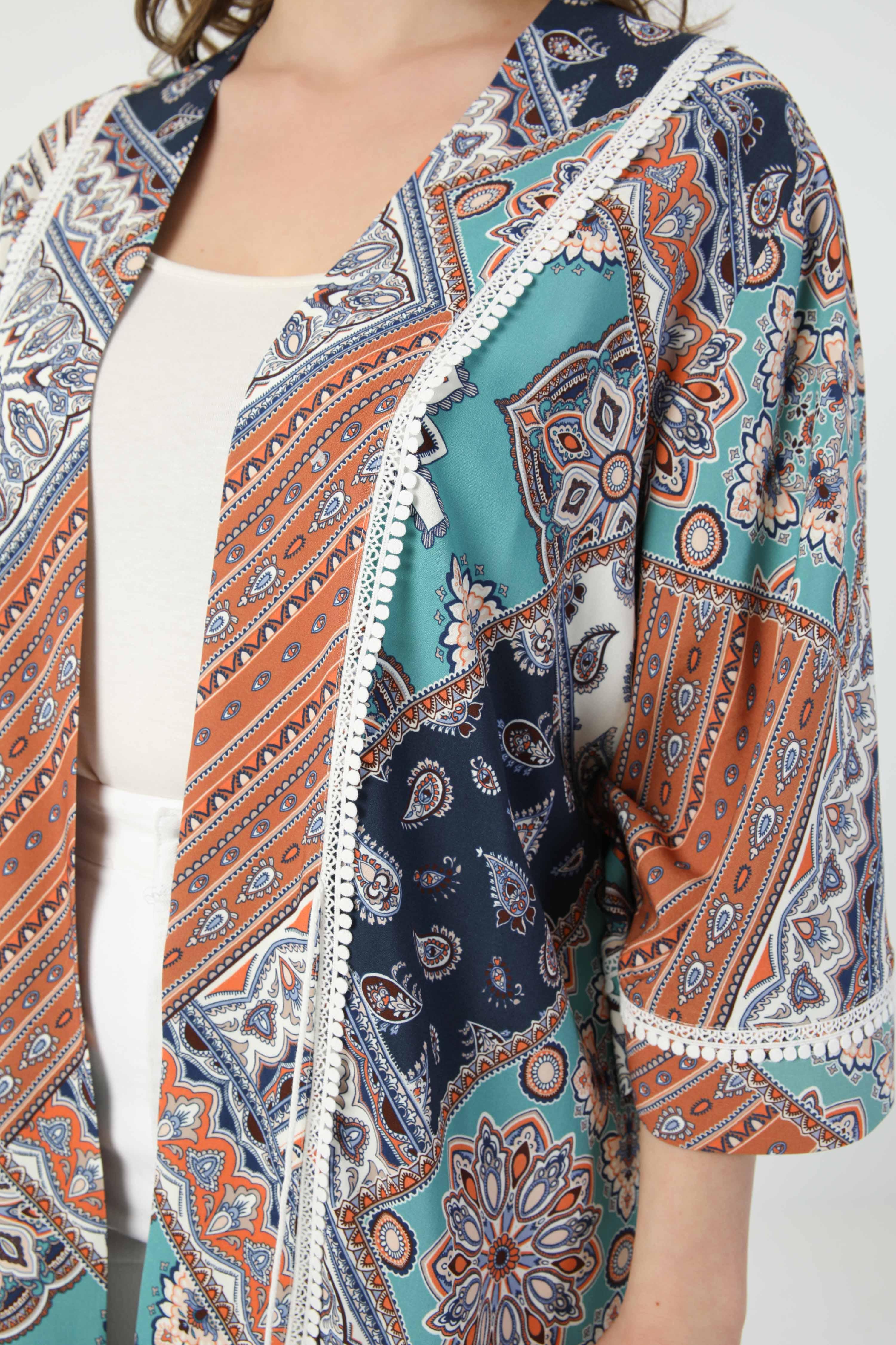 Long printed kimono (shipping May 20/25)