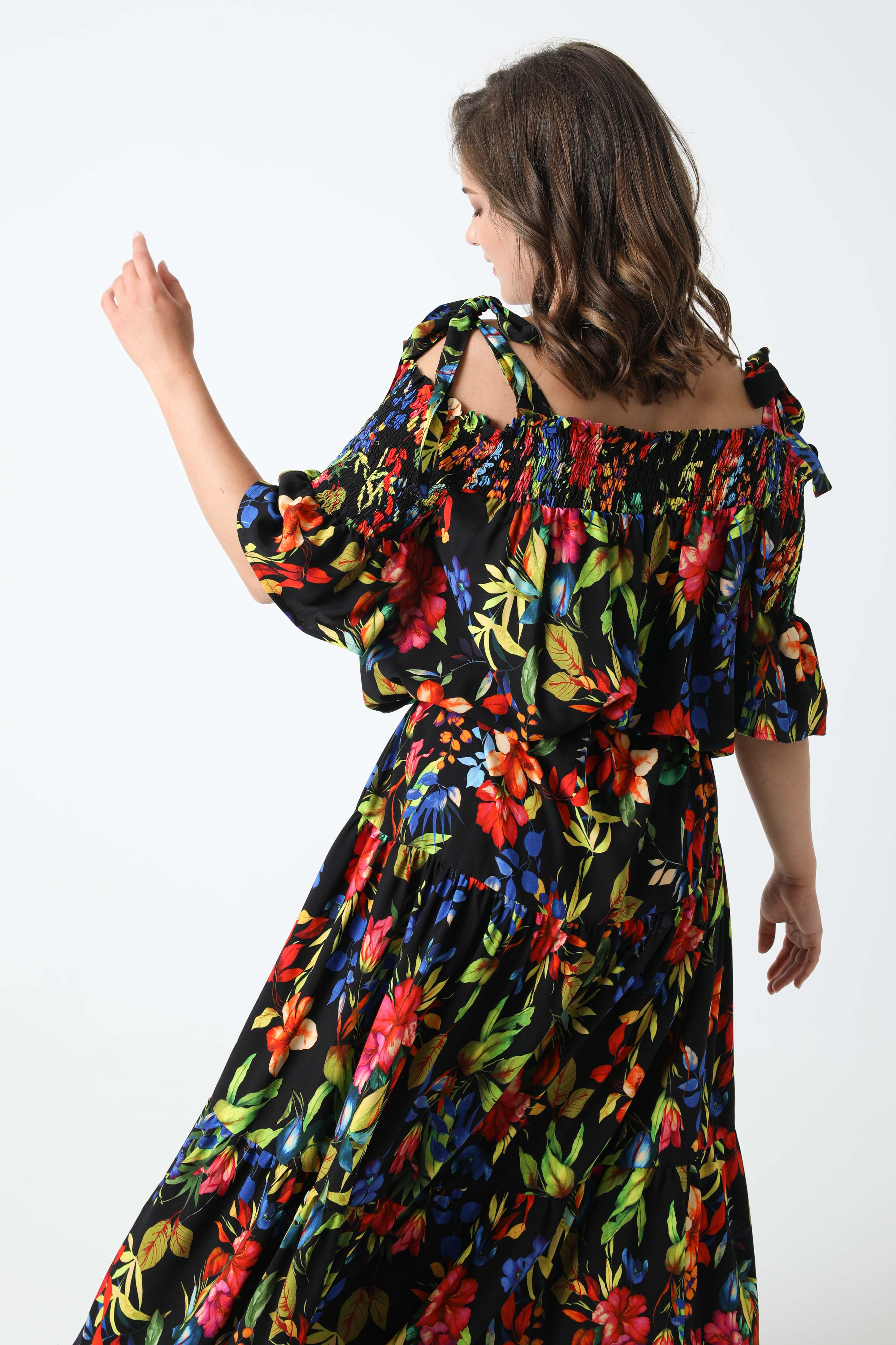 Printed dress with oeko-tex fabrics with straps (Shipping May 30 / June 5)