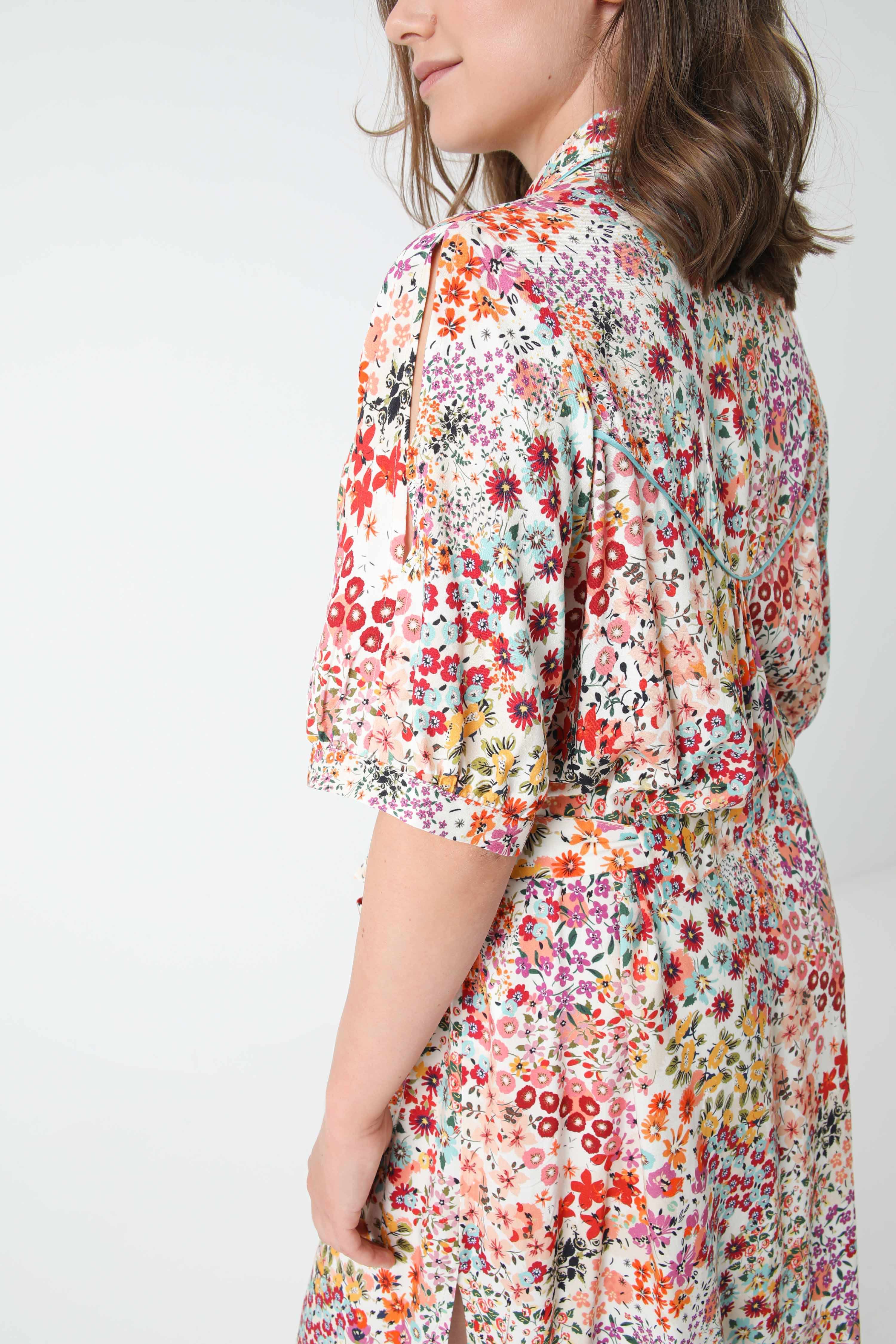 Printed shirt dress (shipping 25/30 May)