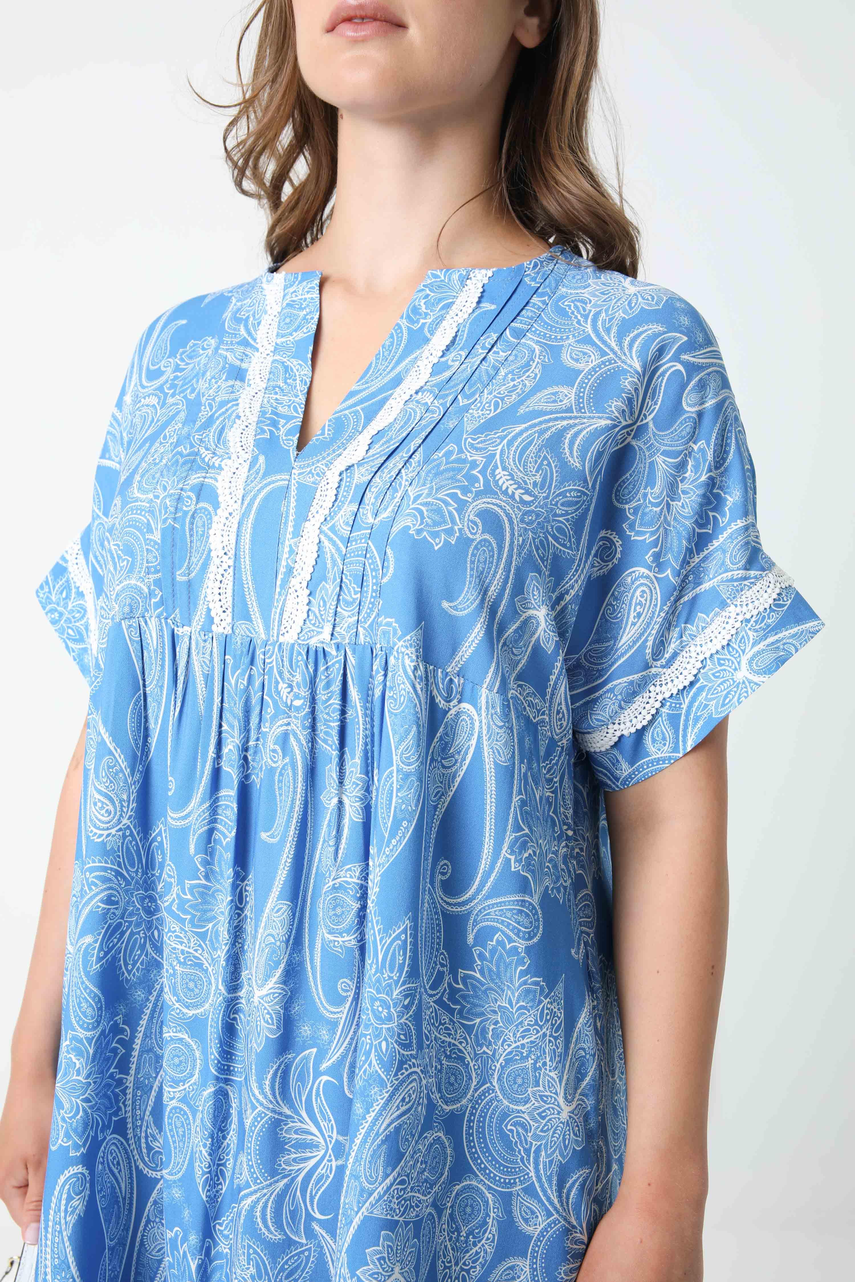 Mid-length printed dress (shipping May 25/30)