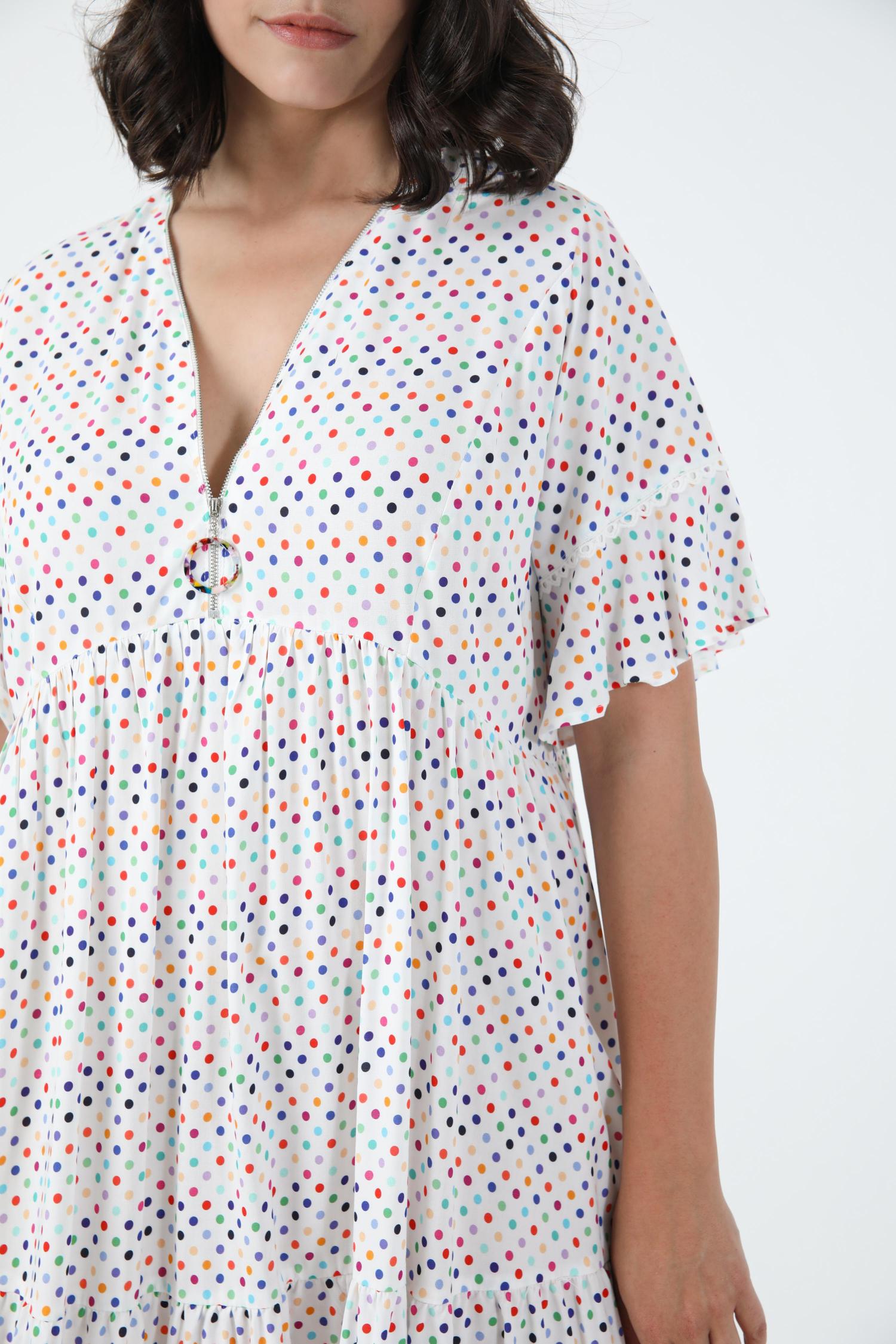 Printed dress with zipped neckline oeko-tex fabrics (Shipping June 5/10)