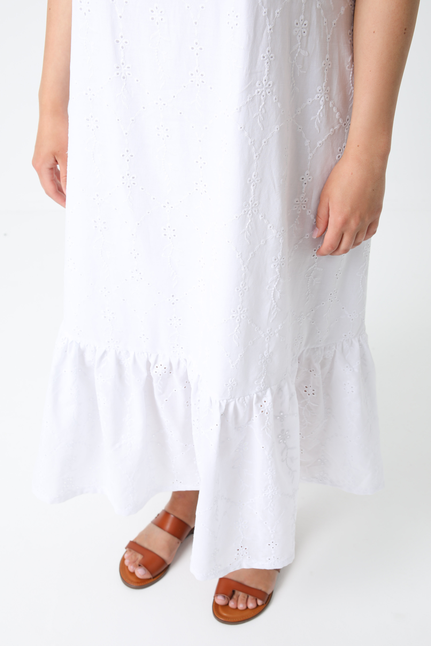 English embroidery square neck dress (Shipping June 10/15)