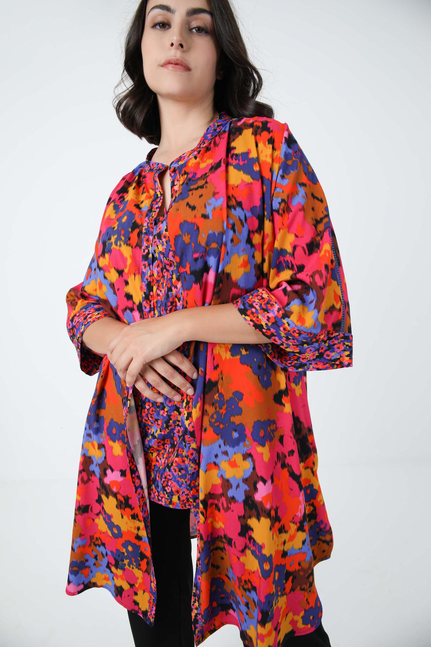 Printed shirt in eoko-tex fabric