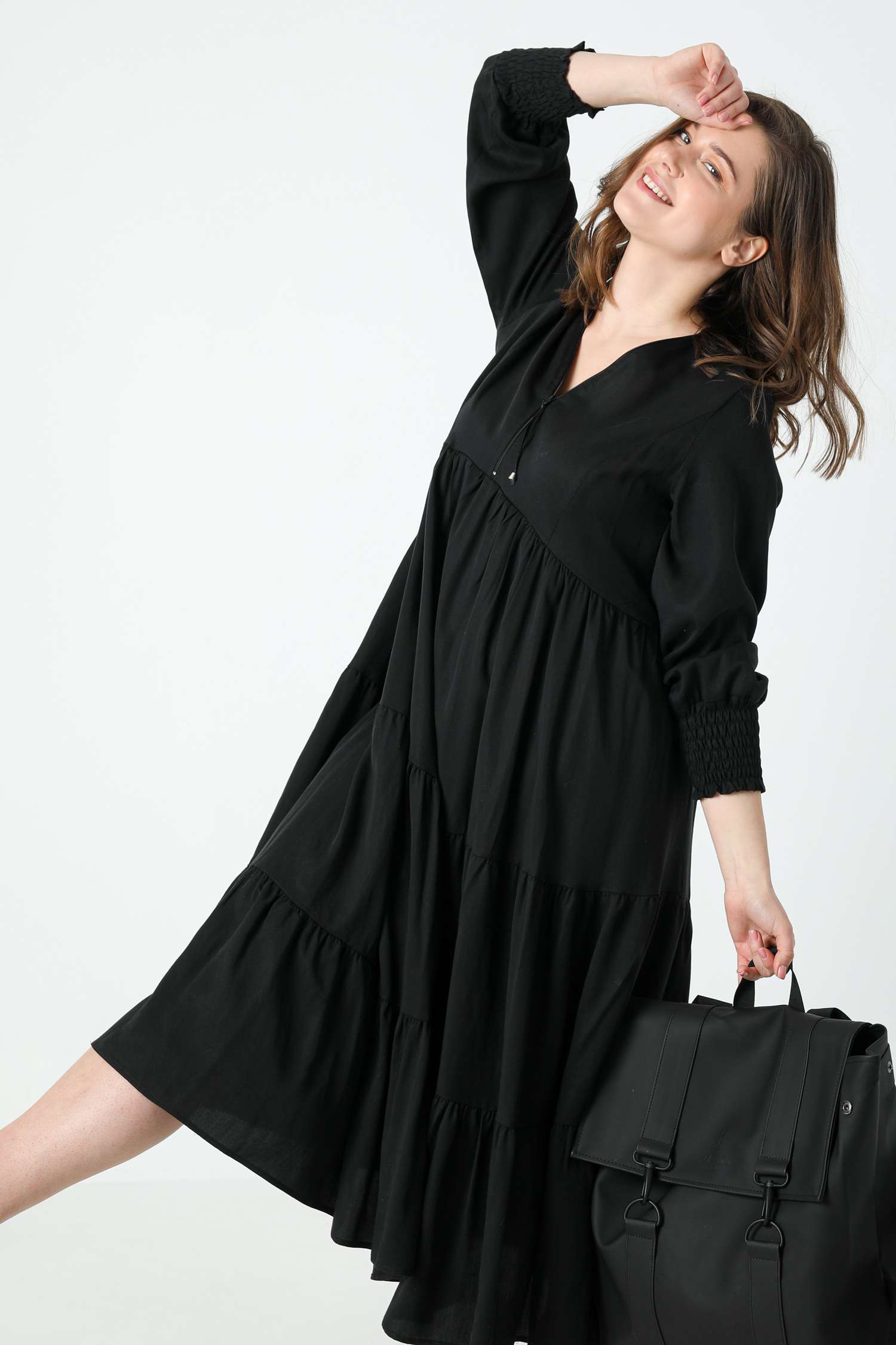 Long bohemian style dress in tencel (expedition 15/20 June)